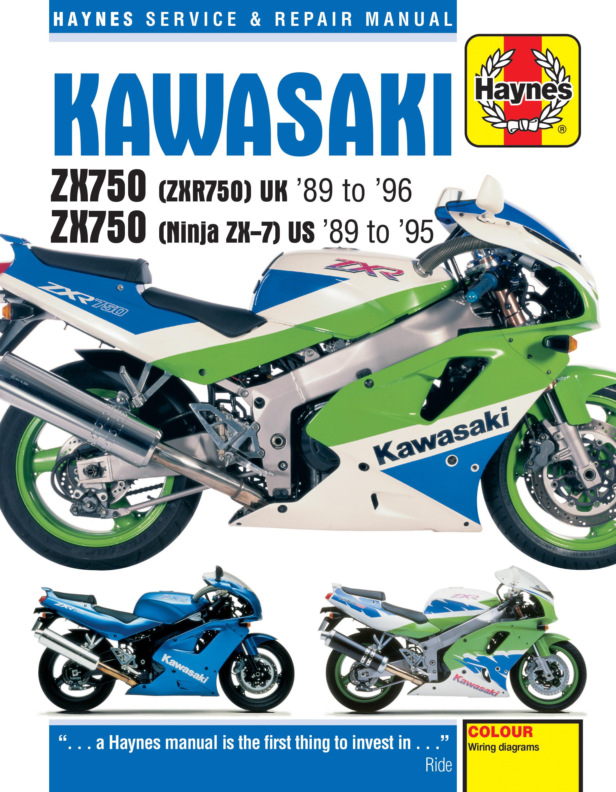Kawasaki ZX750 (Ninja ZX-7 & ZXR750) Fours (89 - 96) Haynes Repair Manual