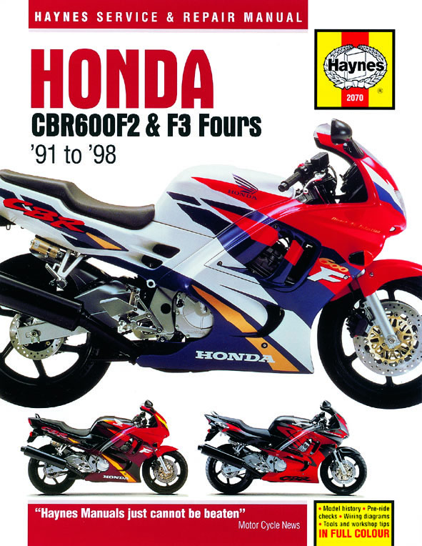 Haynes 2070 cover honda cbr600f2 & f3 fours (91 98) haynes repair manual haynes 1994 honda cbr600f2 wiring diagram at reclaimingppi.co