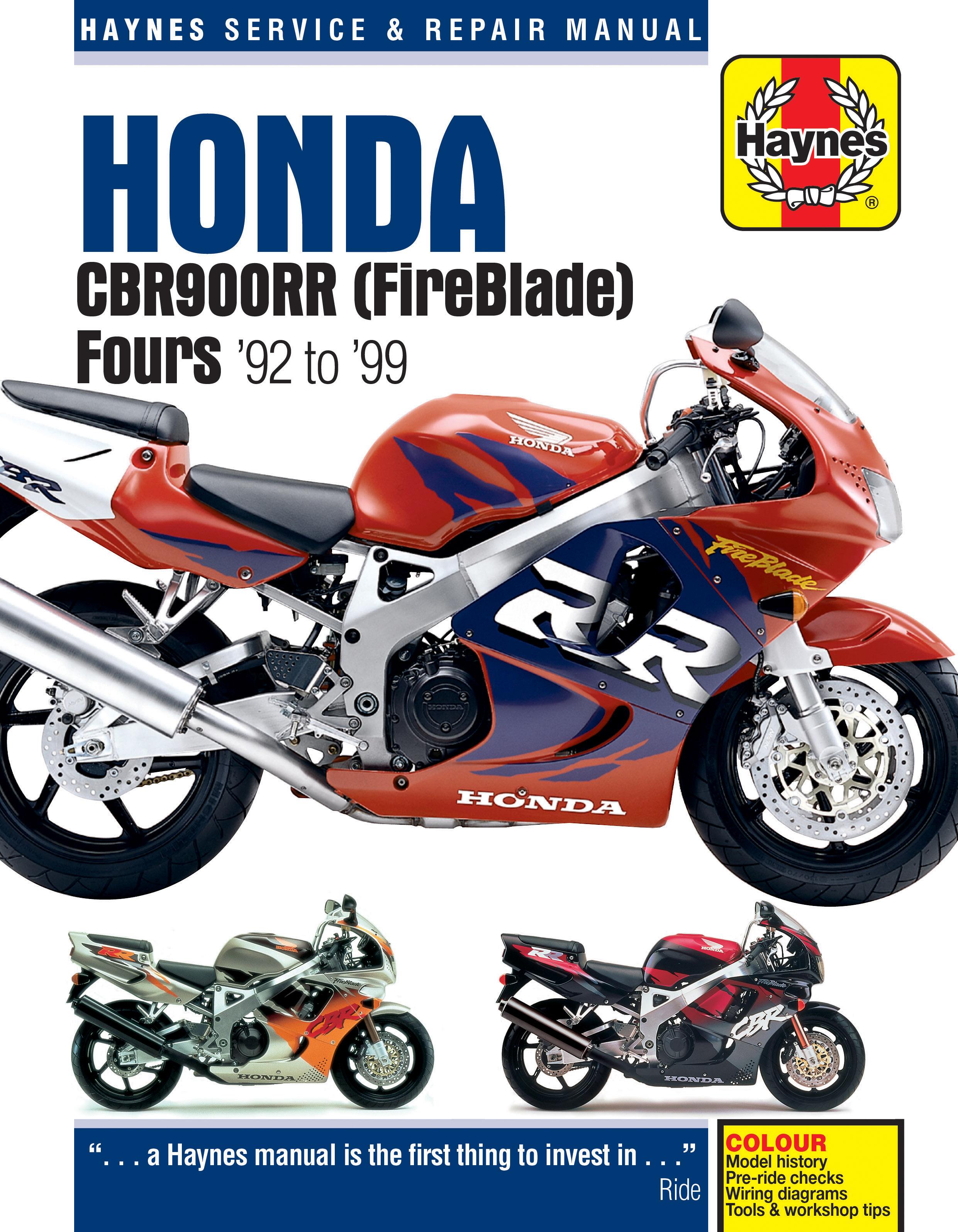 Honda CBR900RR FireBlade (92 - 99) Haynes Repair Manual