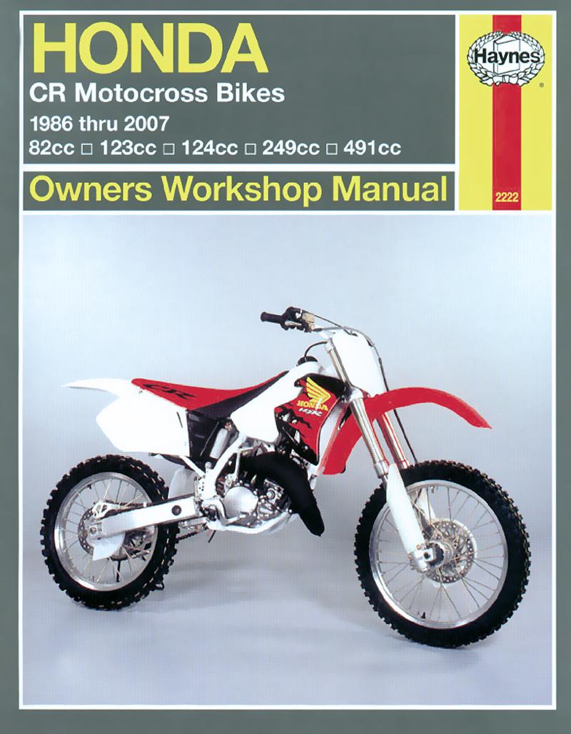 Honda CR Motocross Bikes (86 - 07) Haynes Repair Manual