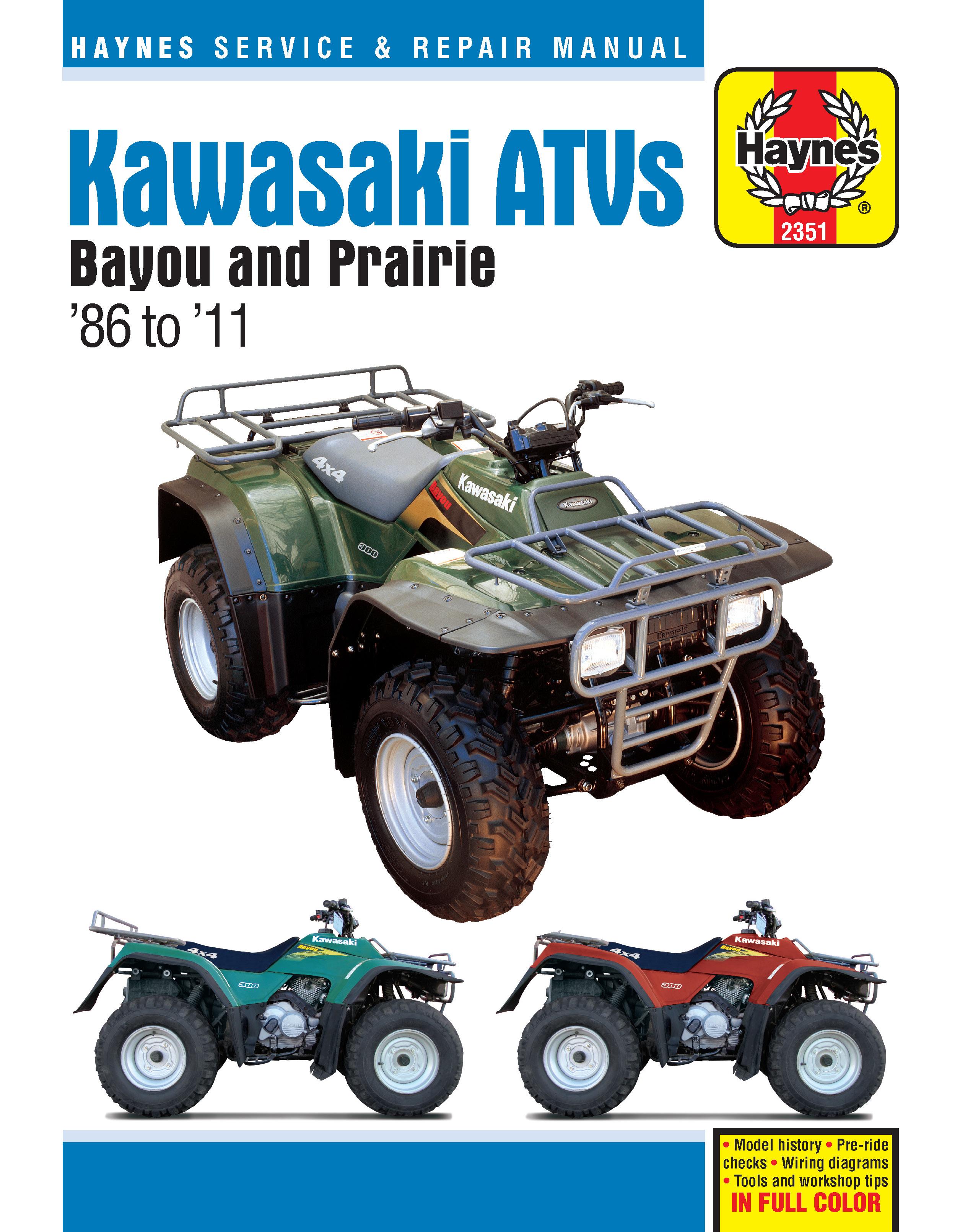 Kawasaki Bayou & Prairie ATVs (86-11) Haynes Repair Manual