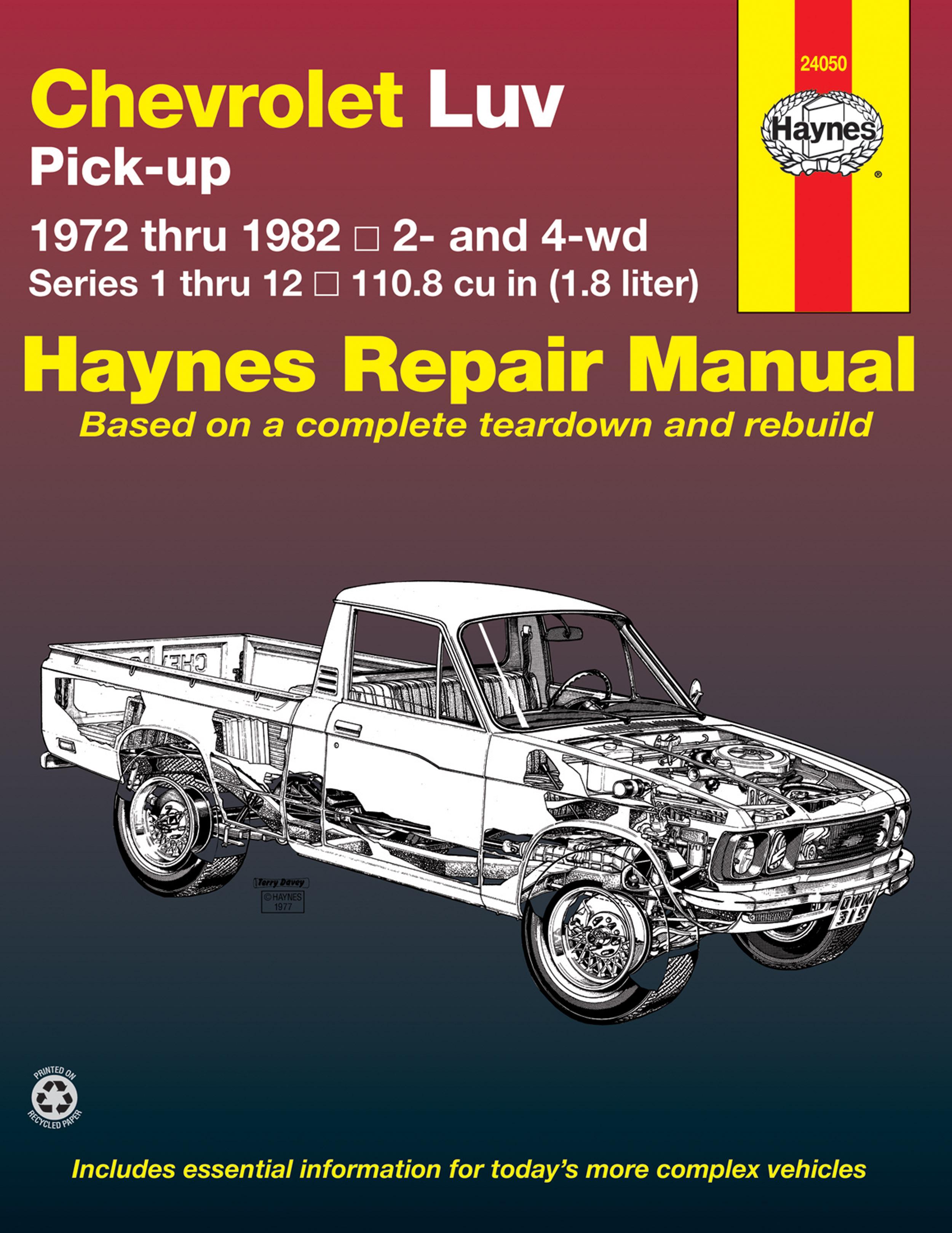 Enlarge Chevrolet Luv Pick-up petrol (1972-1982) petrol Haynes Repair Manual  (
