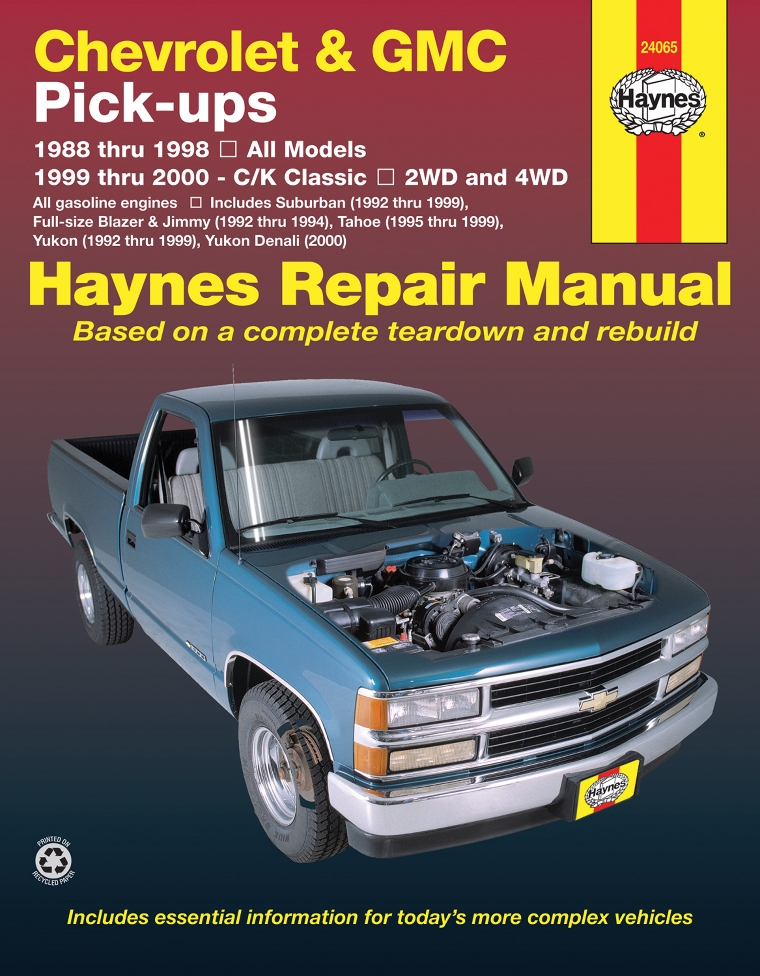 chevrolet gmc full size petrol pick ups 1988 1998 haynes repair rh haynes com 97 GMC Jimmy Manual 1998 gmc jimmy repair manual free download