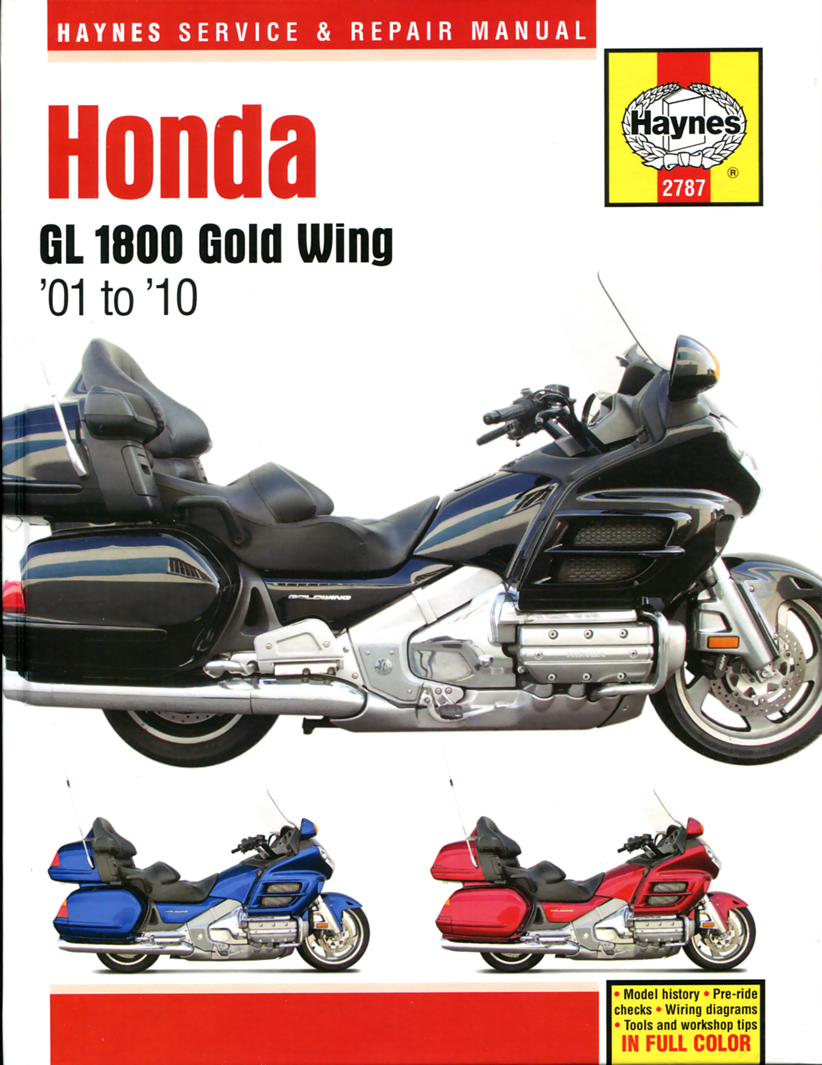 Sapiensman Haynes Manuals Wiring Diagram Honda H100 Gl1800 Gold Wing 1800 01 10 Repair Manual