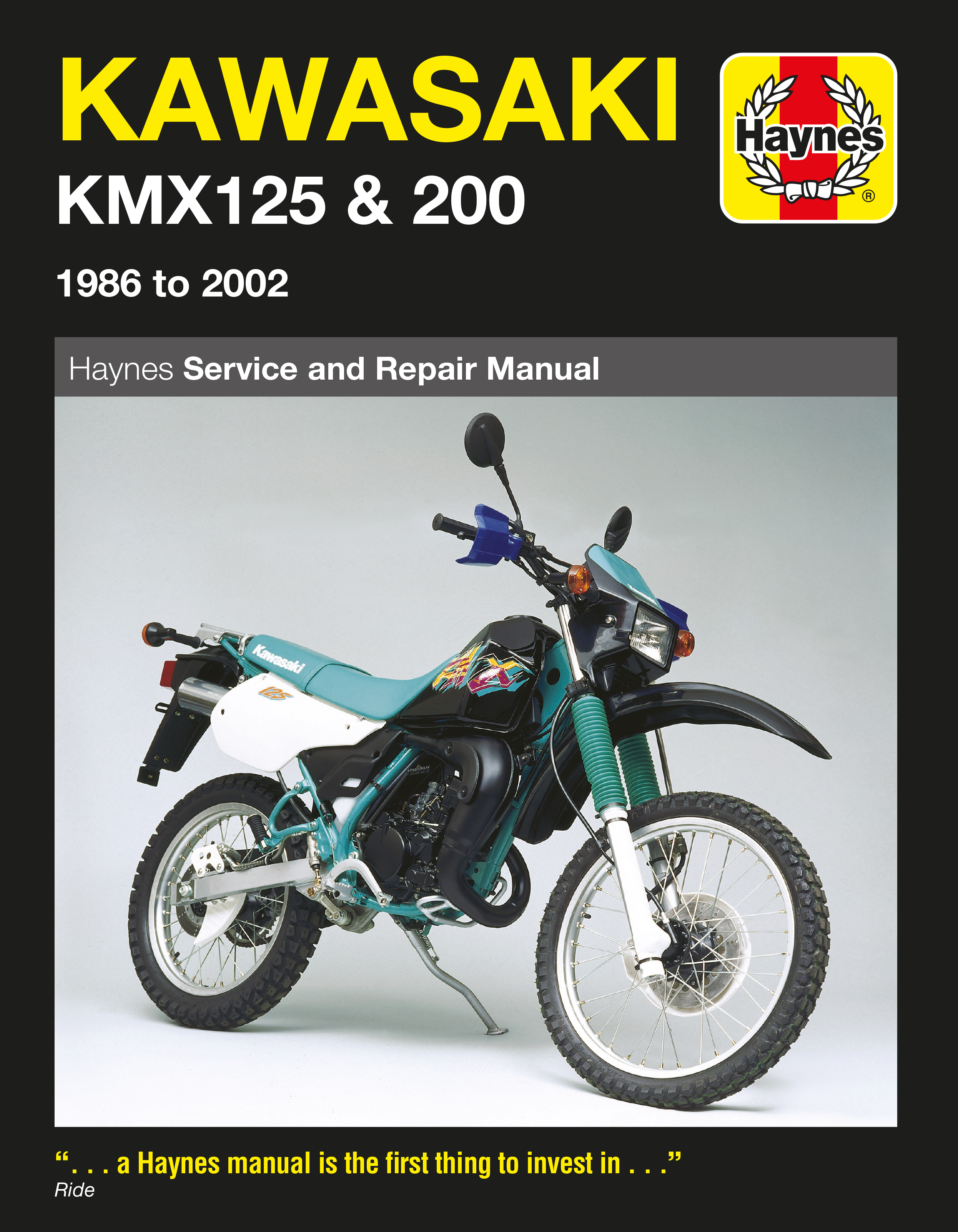 Kawasaki KMX125 & 200 (86 - 02) Haynes Repair Manual