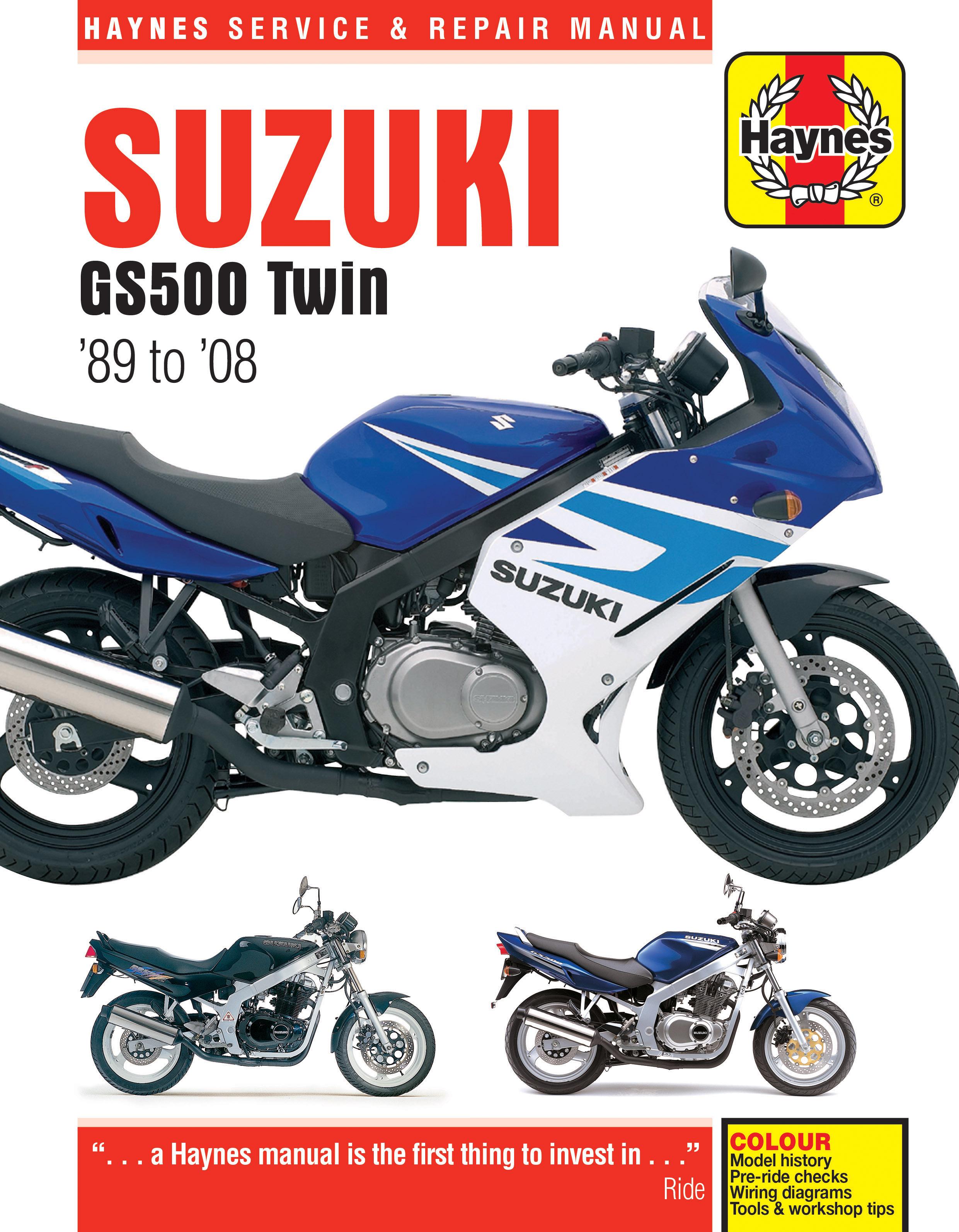 2005 Gs500 Wiring Diagram Reveolution Of 89 Softail Suzuki Twin 08 Haynes Repair Manual Publishing Rh Com Carburetor
