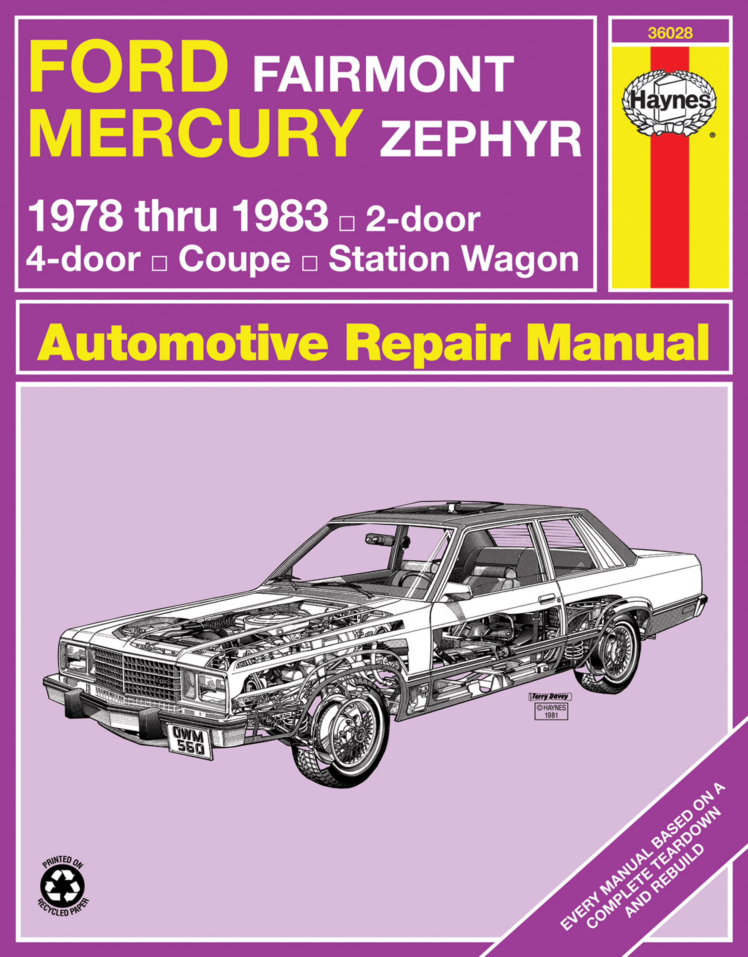 Ford Fairmont Mercury Zephyr 1978 1983 Haynes Repair Manual Usa Wiring Diagram Enlarge