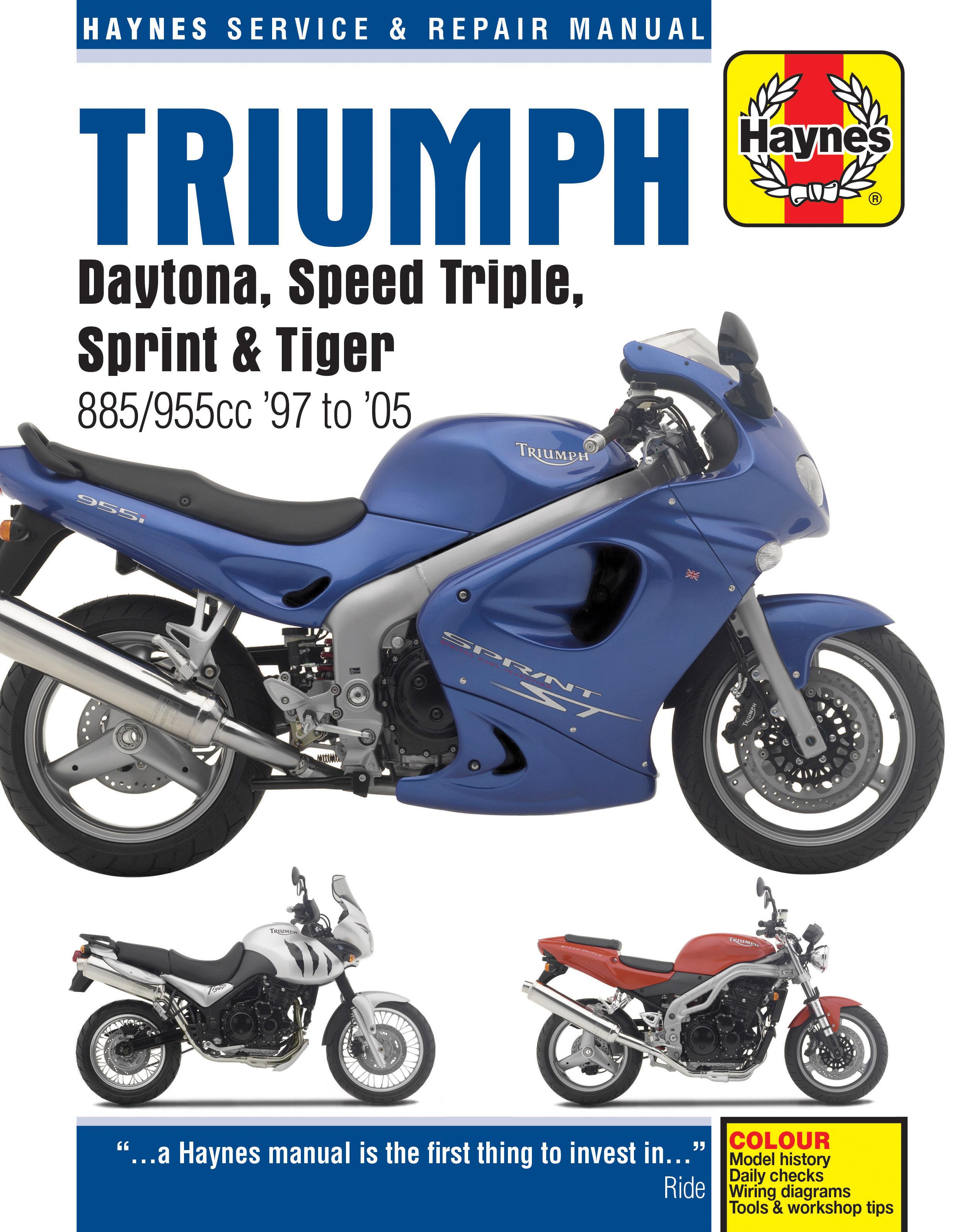 triumph fuel injected triples 97 05 haynes repair manual rh haynes com triumph sprint rs service manual 2000 Triumph Sprint St