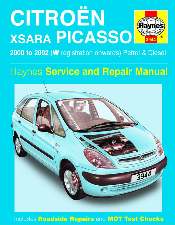 citroen xsara picasso petrol diesel 00 02 haynes. Black Bedroom Furniture Sets. Home Design Ideas