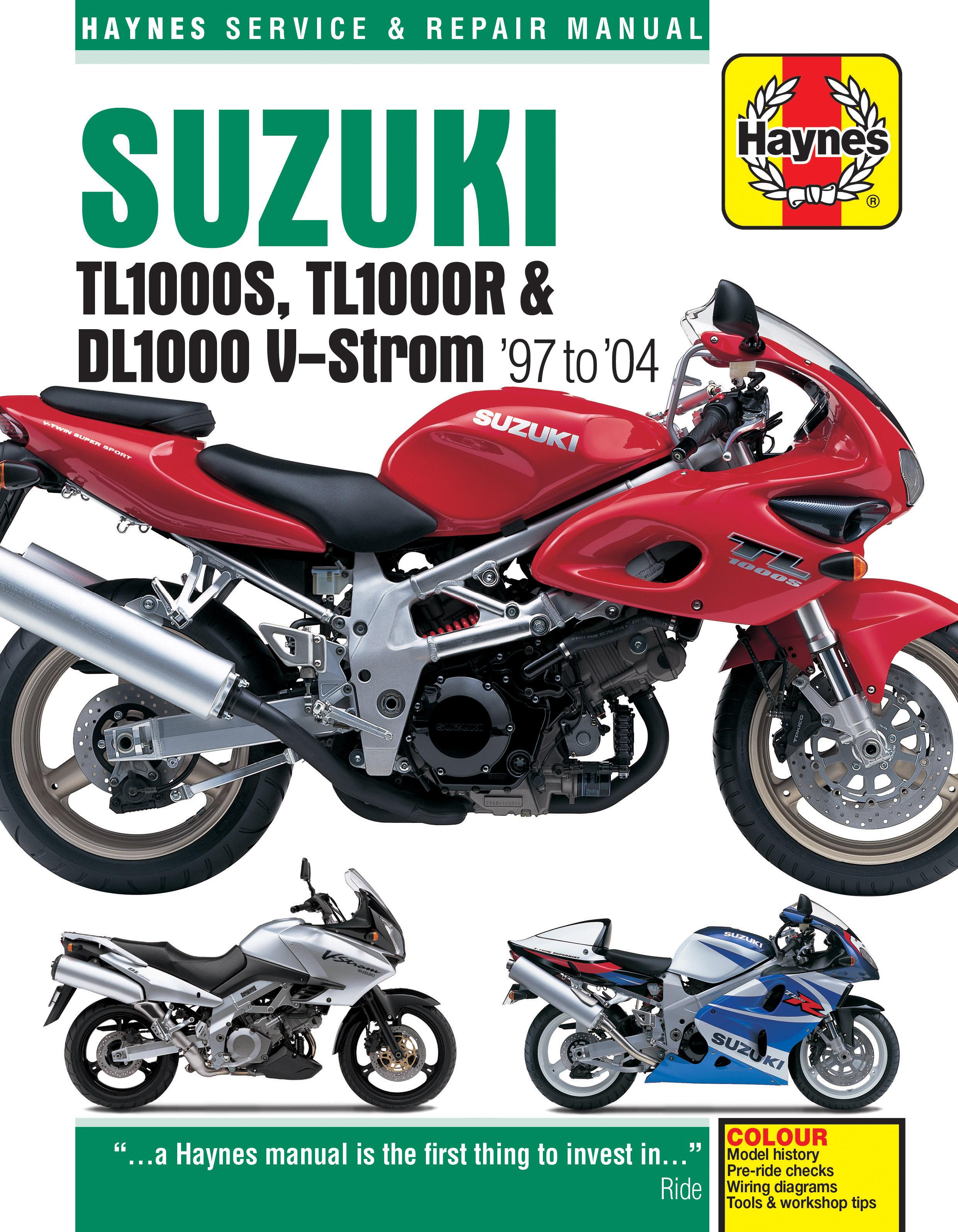 Suzuki TL1000S/R & DL1000 V-Strom (97 - 04) Haynes Repair Manual ...