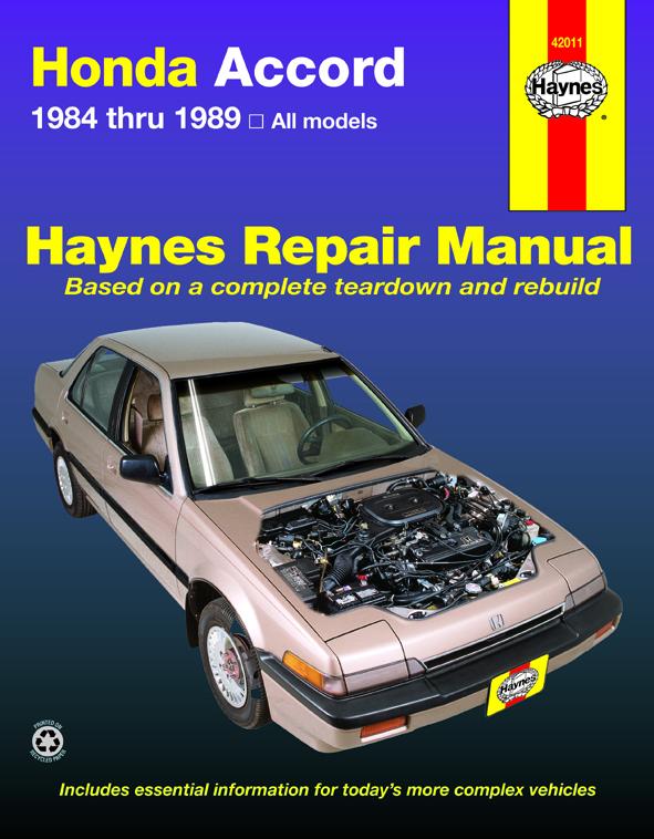 Honda Accord 1.8L & 2.0L models (84-89) Haynes Repair Manual (USA)