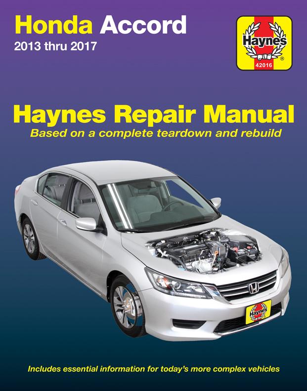 Honda Accord (13-17) Haynes Repair Manual (USA)