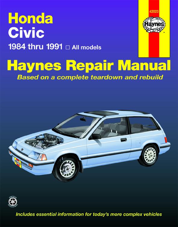 Honda Civic, Civic Si, & Civic Wagon (1984-1991) Haynes Repair Manual (USA)