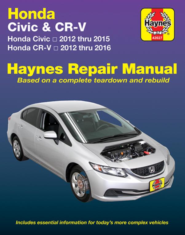 Honda Civic (12-15) & CR-V (12-16) Haynes Manual (USA)