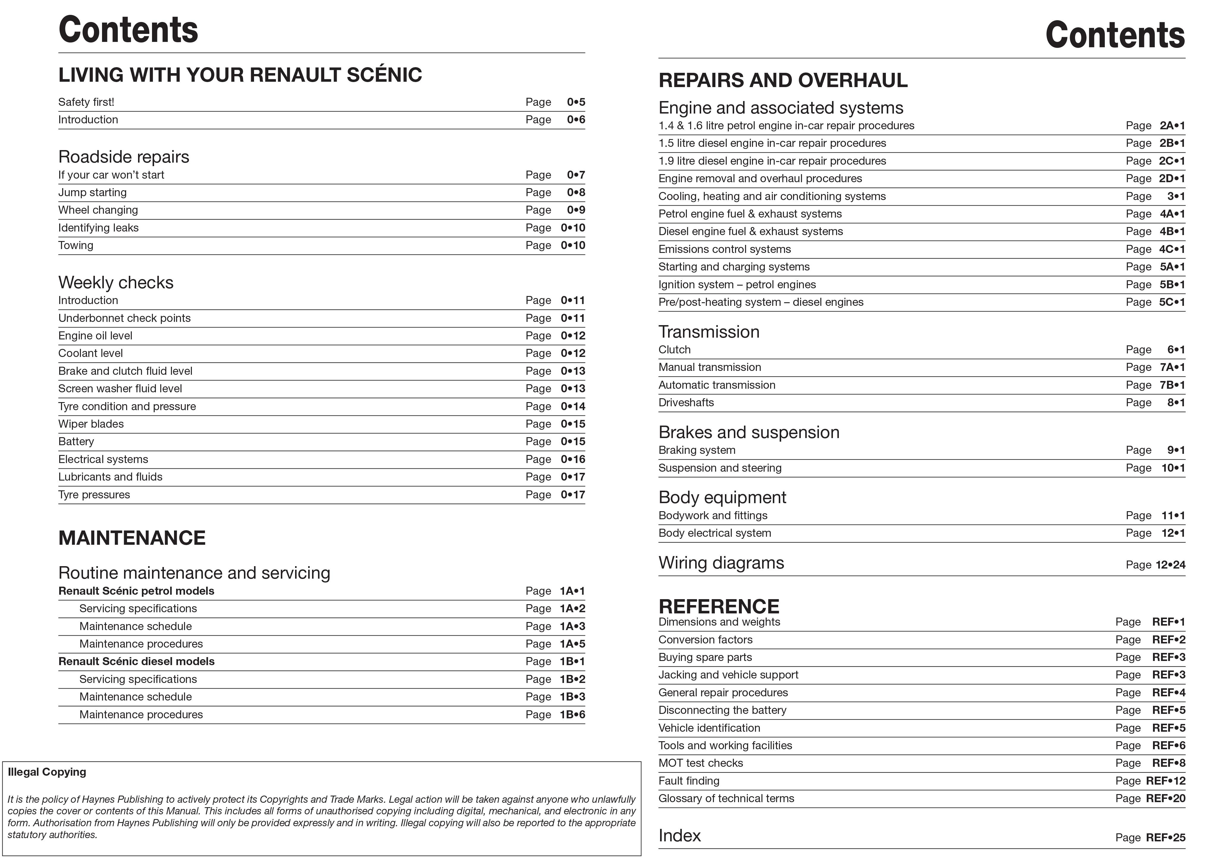 Renault scenic petrol diesel sept 03 06 haynes repair manual renault scenic petrol diesel sept 03 06 haynes repair manual publicscrutiny Choice Image