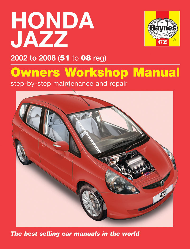 Honda jazz 02 08 haynes repair manual haynes publishing for Honda car repair