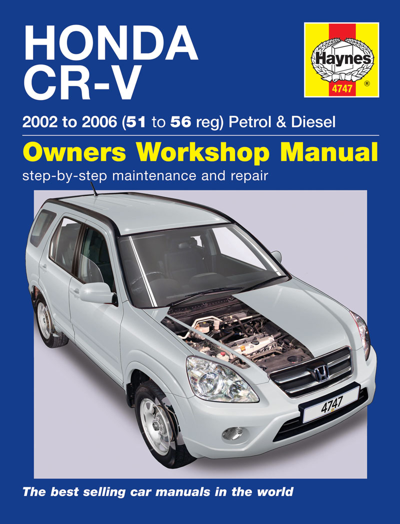 Honda cr v petrol diesel 02 06 haynes repair manual for Honda car repair
