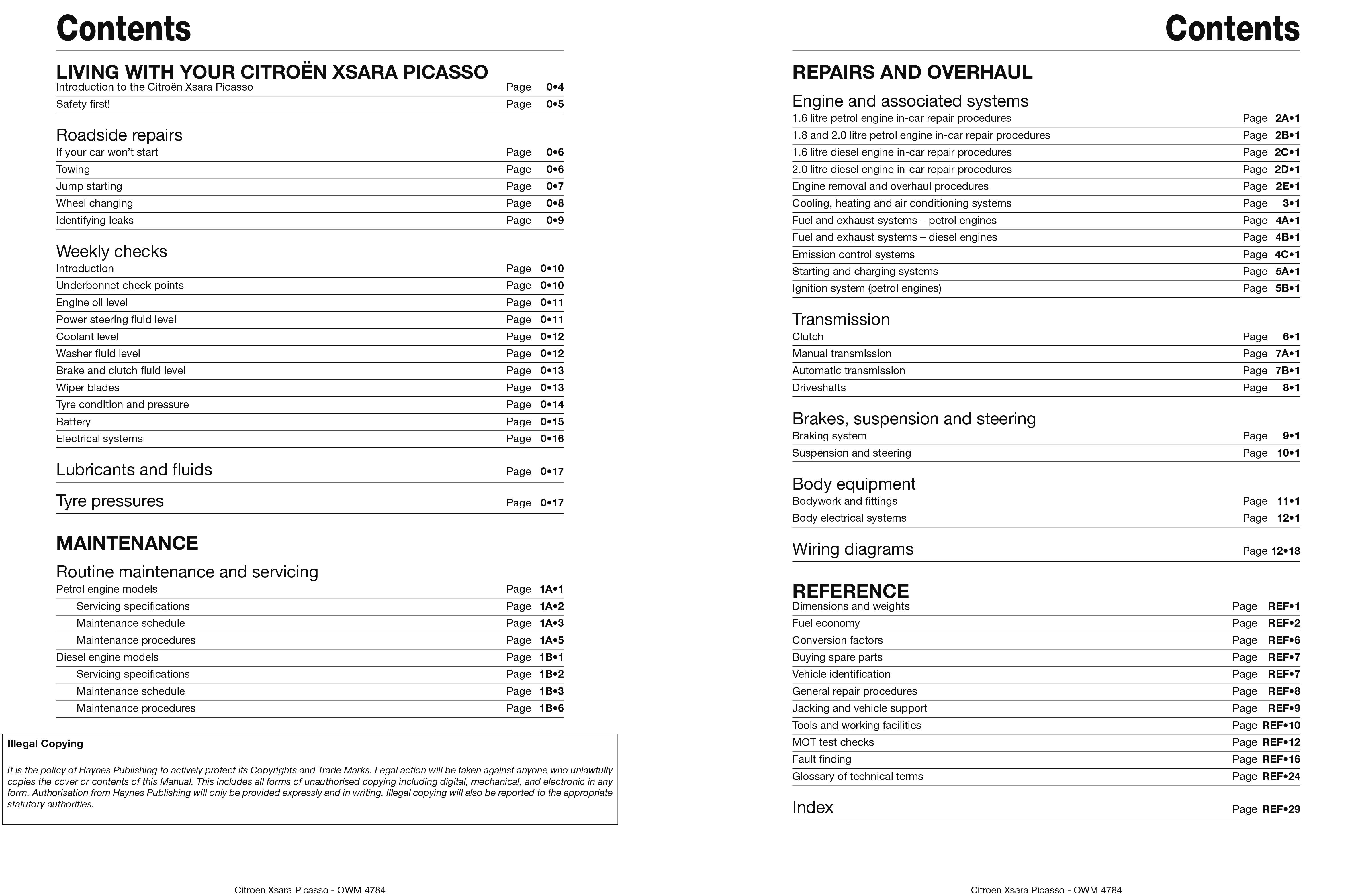 Xsara Picasso Haynes Publishing Citroen Saxo 16 Wiring Diagrams Manuals Online Scroll Right