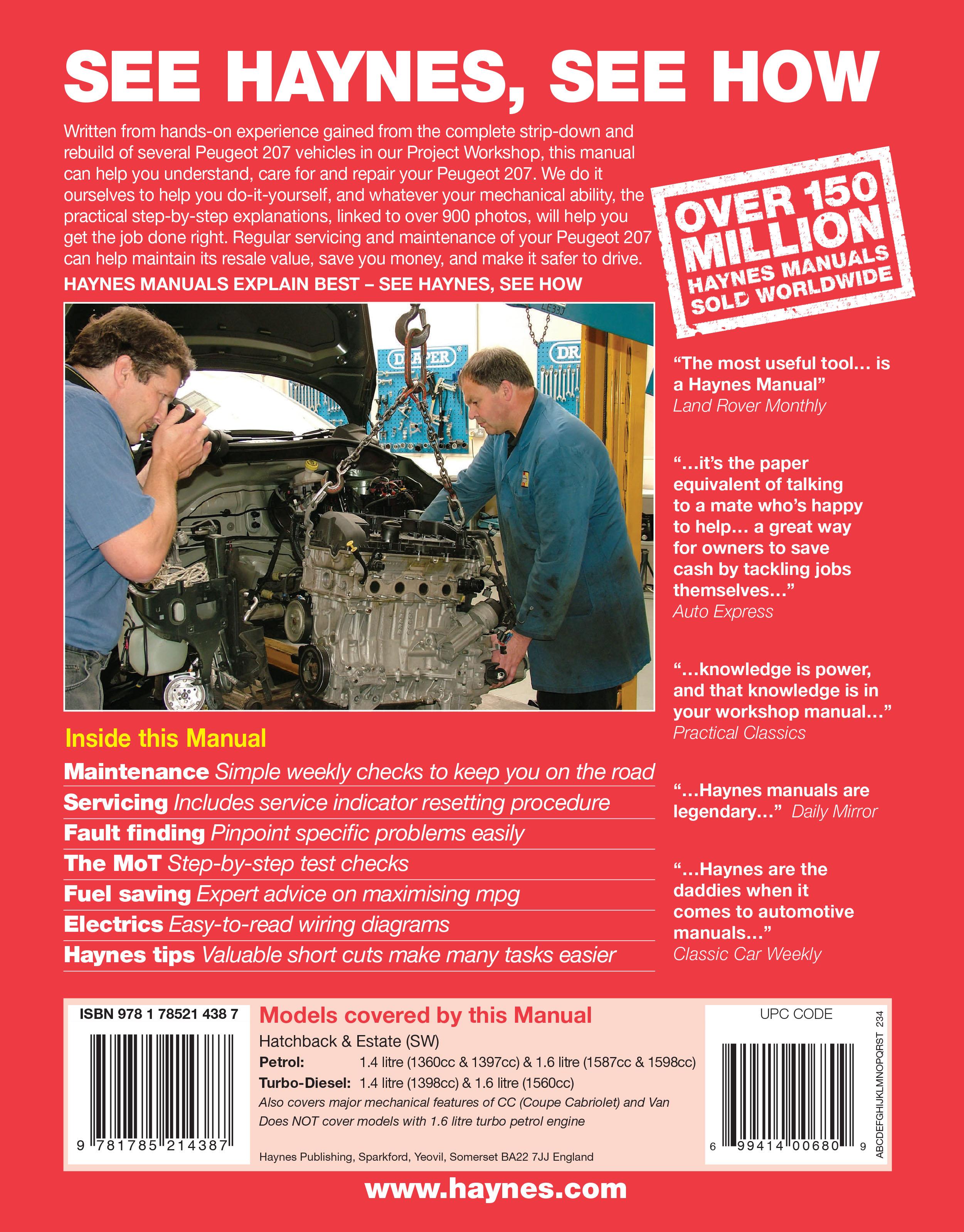 Peugeot 207 petrol diesel 06 july 09 haynes repair manual peugeot 207 petrol diesel 06 july 09 haynes repair manual fandeluxe Images
