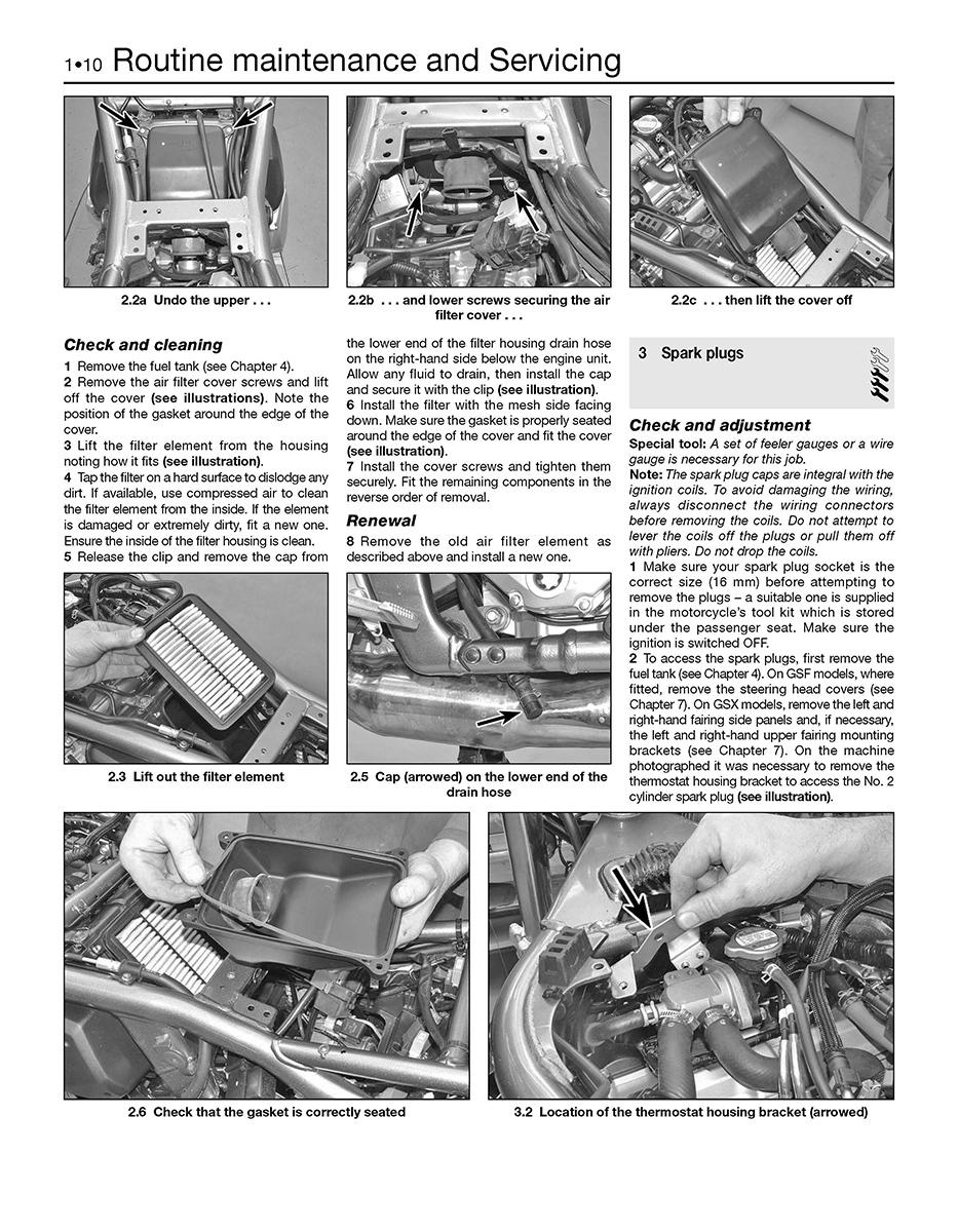 suzuki gsf650 1250 bandit gsx650 1250f 07 14 haynes repair rh haynes com suzuki gsf 1250 bandit service manual suzuki bandit 1250 manual free download