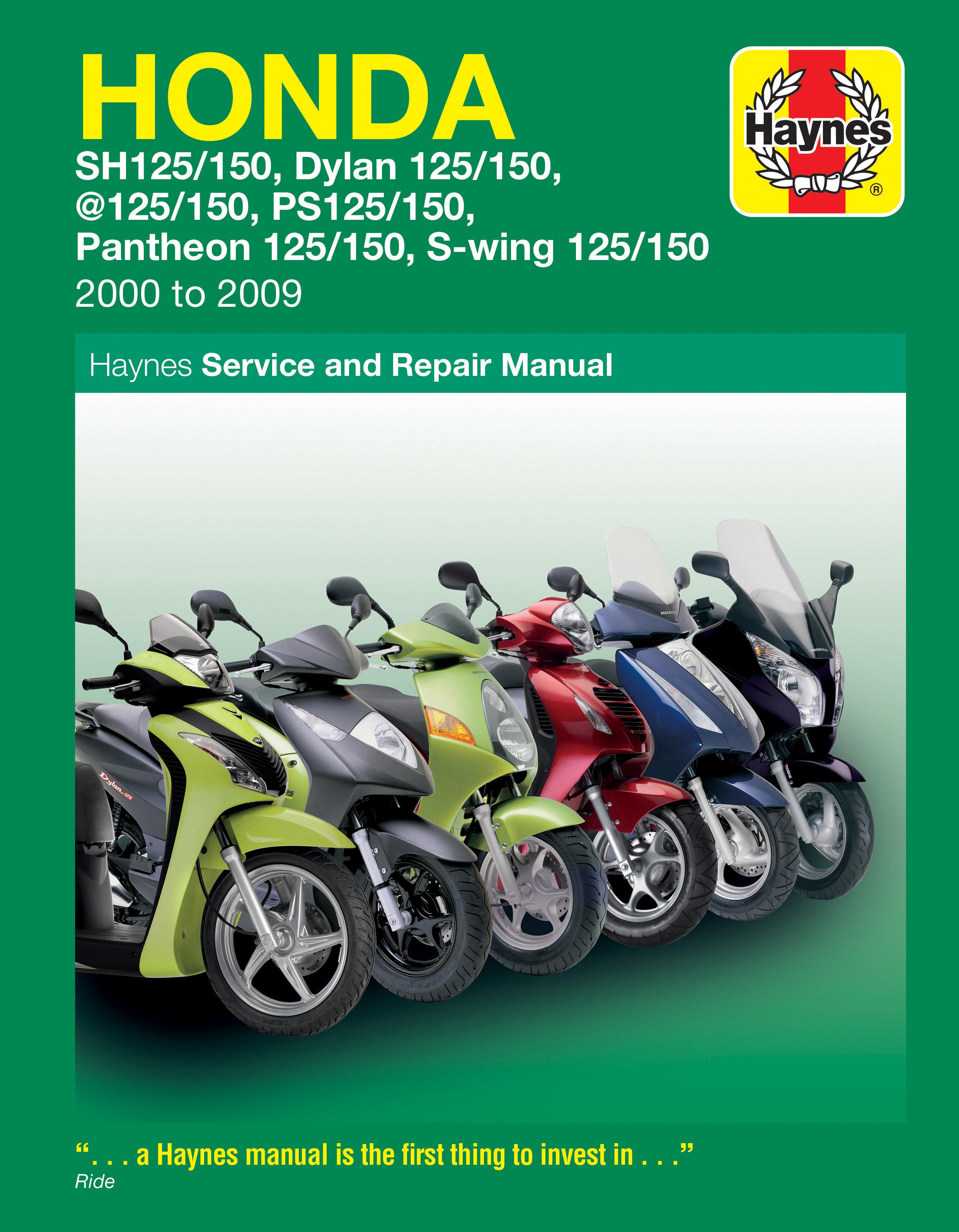 Honda 125 Scooters (SH, SES, NES, PES & FES 125) (00 - 09) Haynes Repair Manual