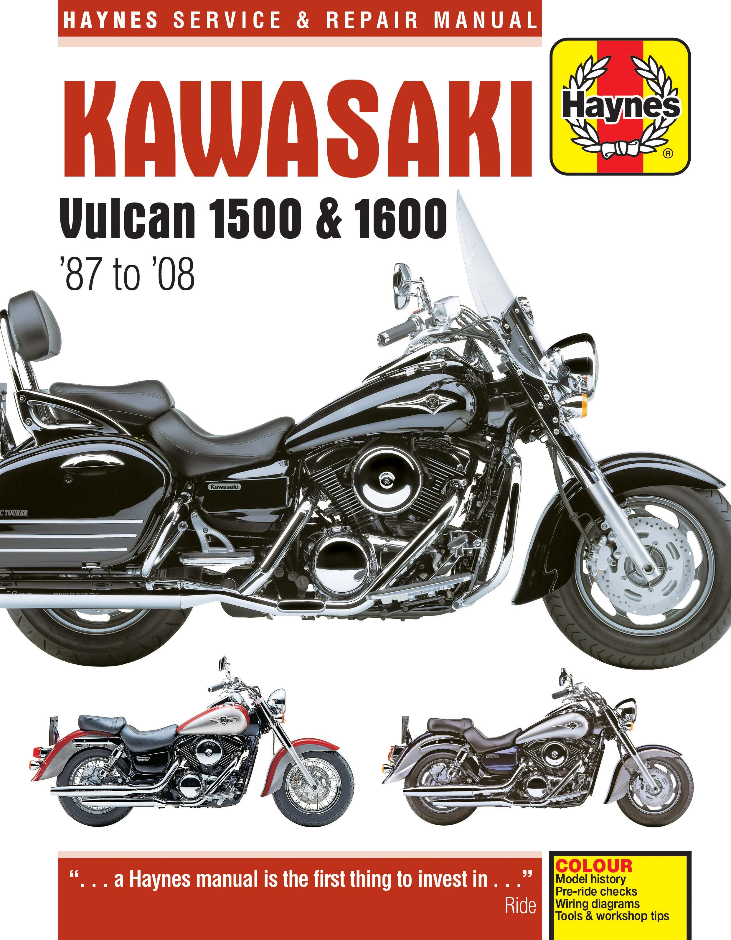 kawasaki vulcan 1500 1600 87 08 haynes repair manual haynes rh haynes com