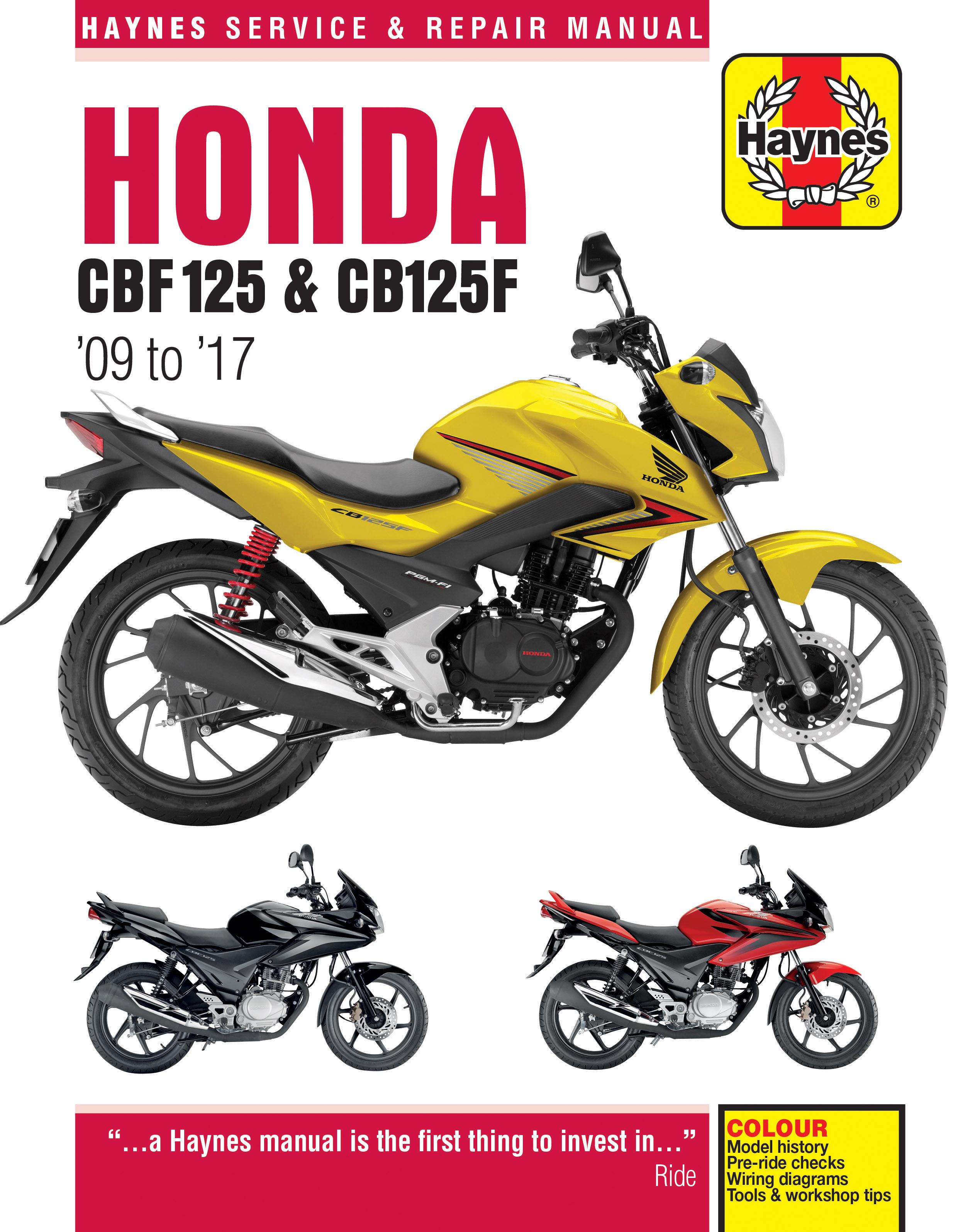 Honda cbf125 09 17 haynes repair manual haynes publishing enlarge honda cbf125 09 17 haynes repair manual fandeluxe Choice Image