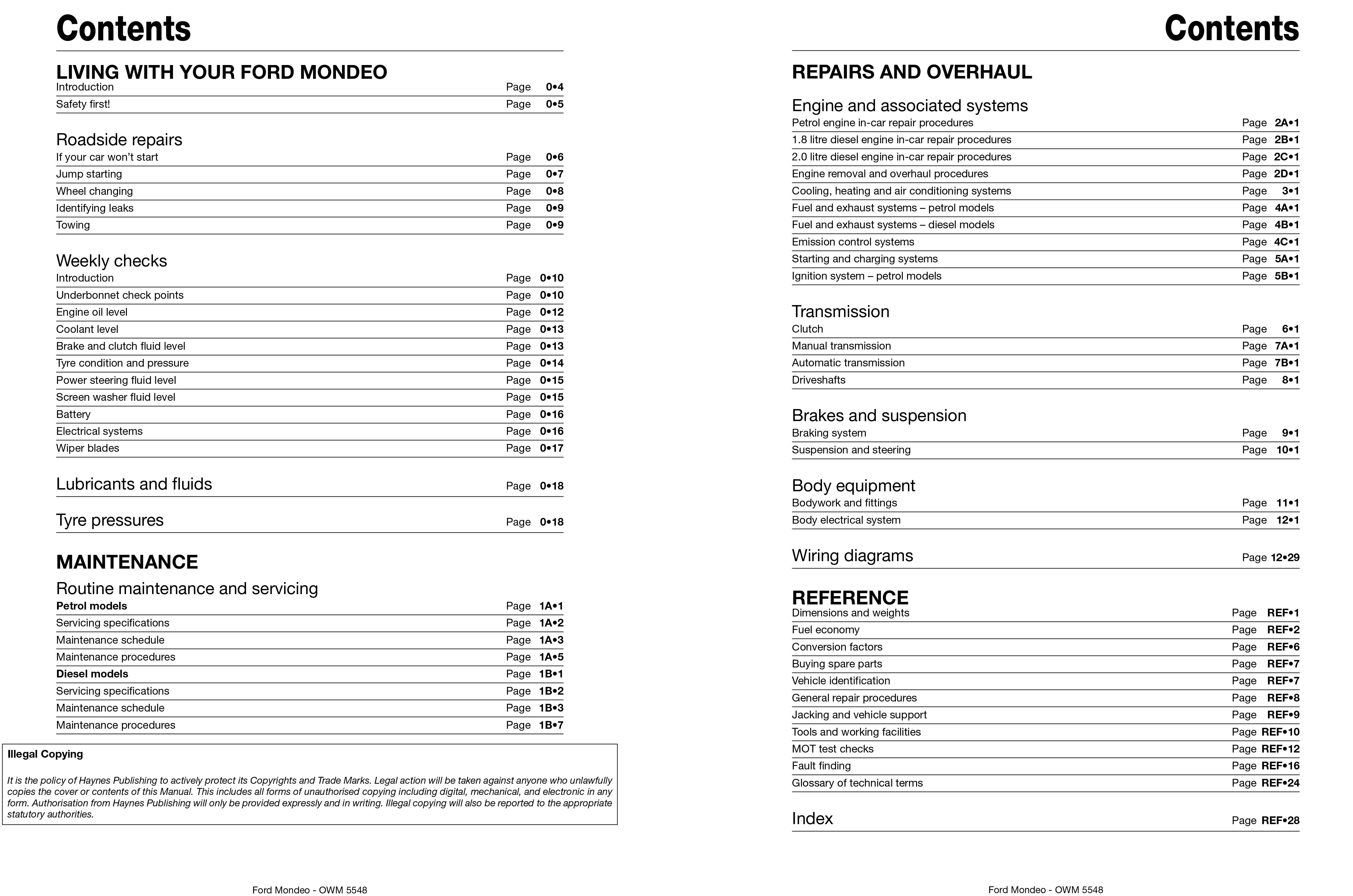 Ford mondeo 2008 owners manual free download array ford mondeo petrol u0026 diesel apr 07 12 haynes repair manual rh fandeluxe Images