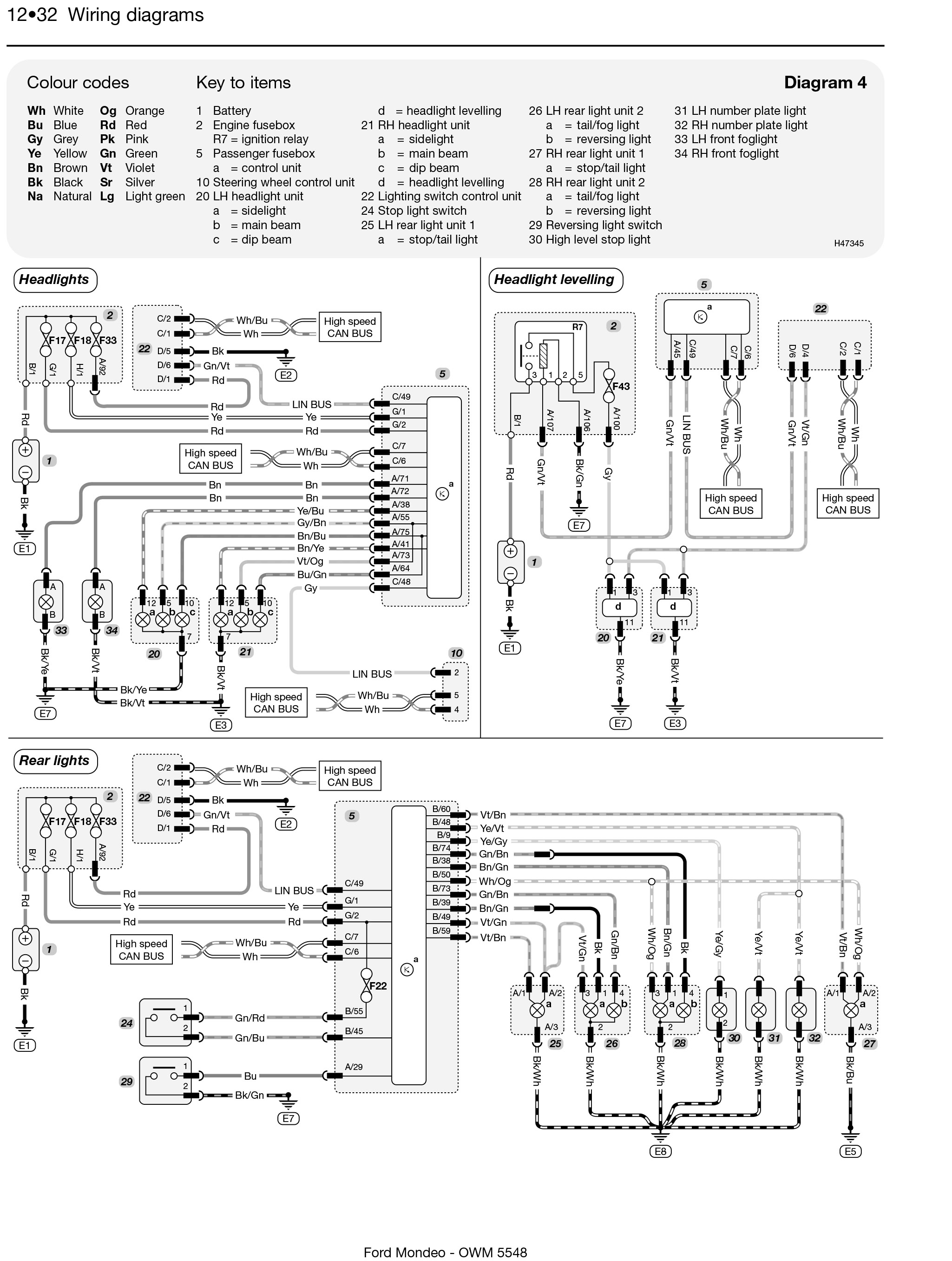 ford mondeo petrol & diesel (apr 07 - 12) haynes repair ... ford mondeo wiring diagram stereo ford mondeo wiring diagram