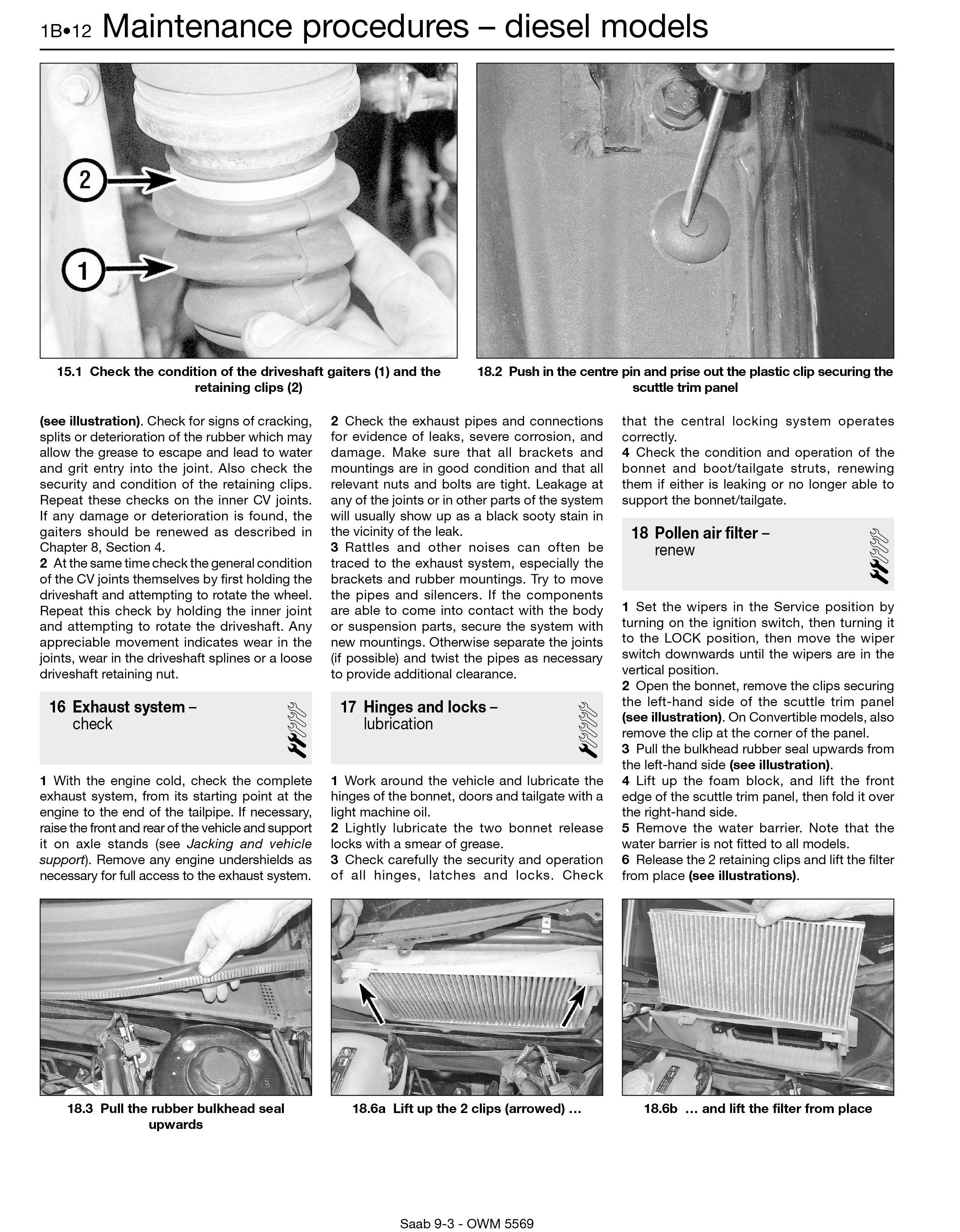 Saab 9 3 Petrol Diesel 07 11 Haynes Repair Manual Engine Diagram