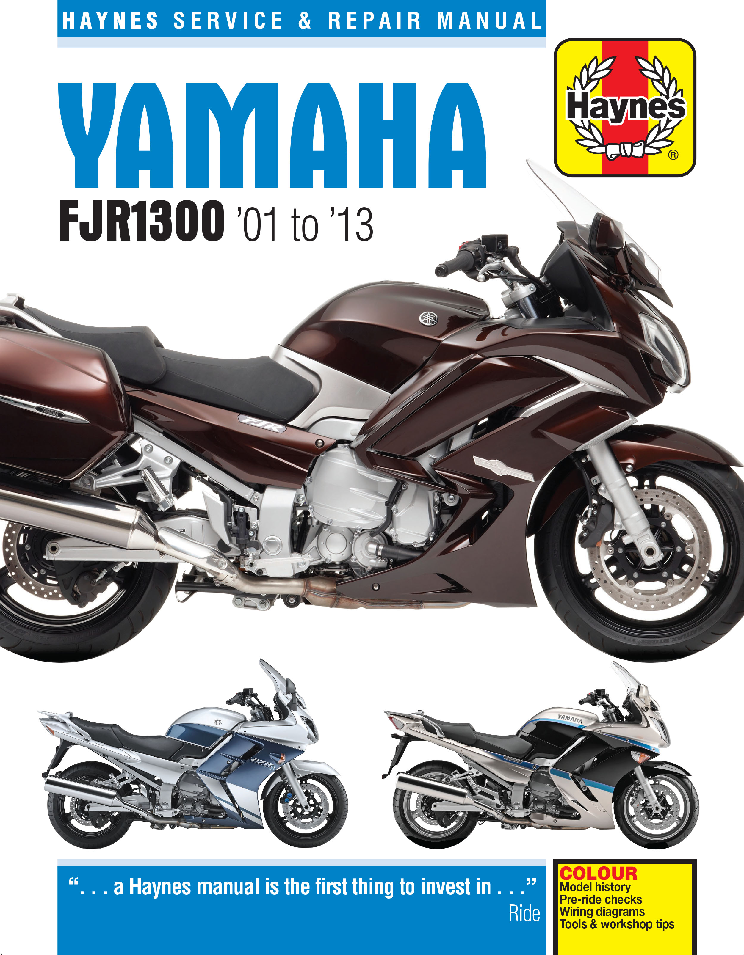 Enlarge Yamaha FJR1300 (01 - 13) Haynes Repair Manual