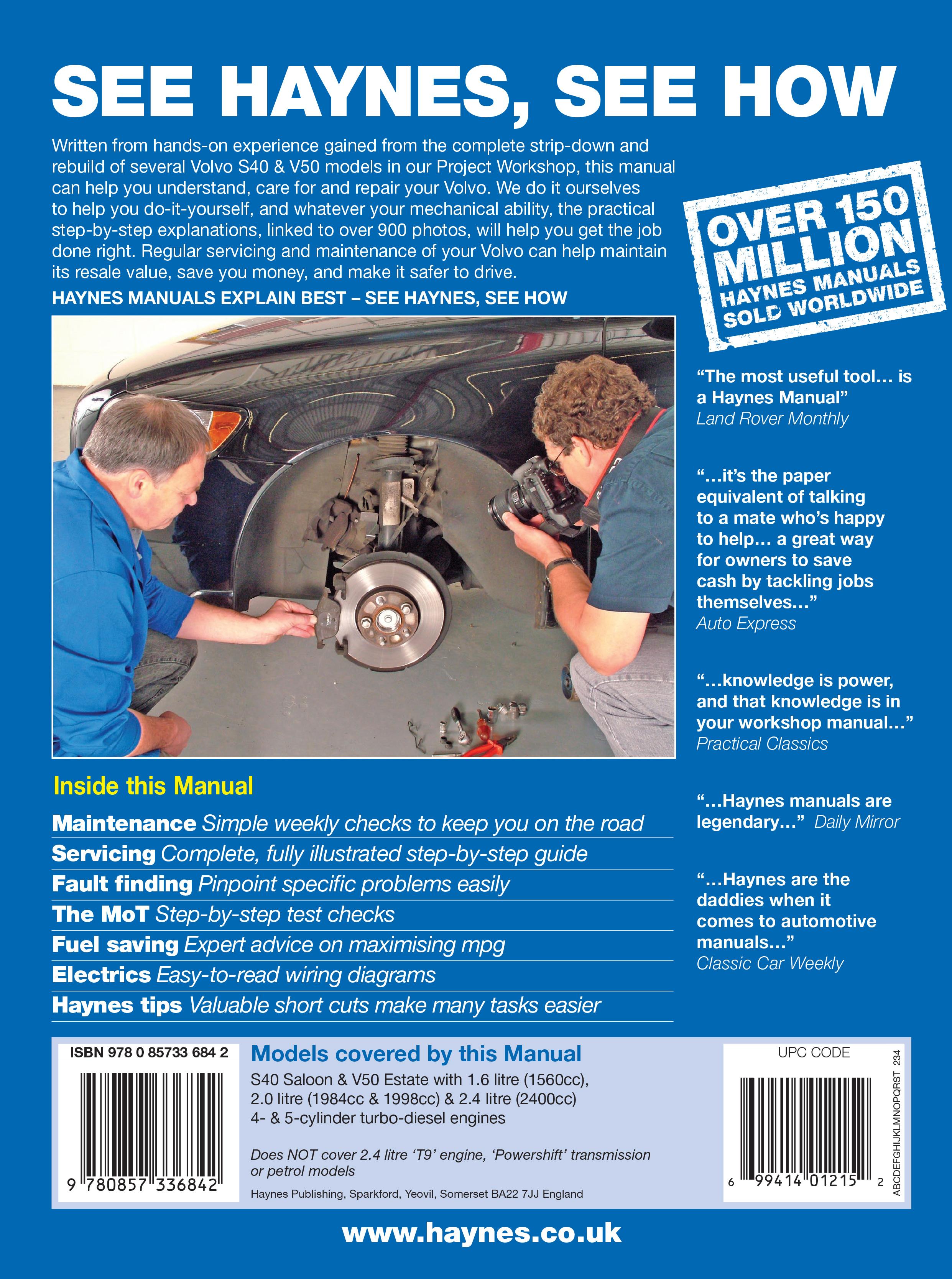 Volvo S40 T5 Repair Manual