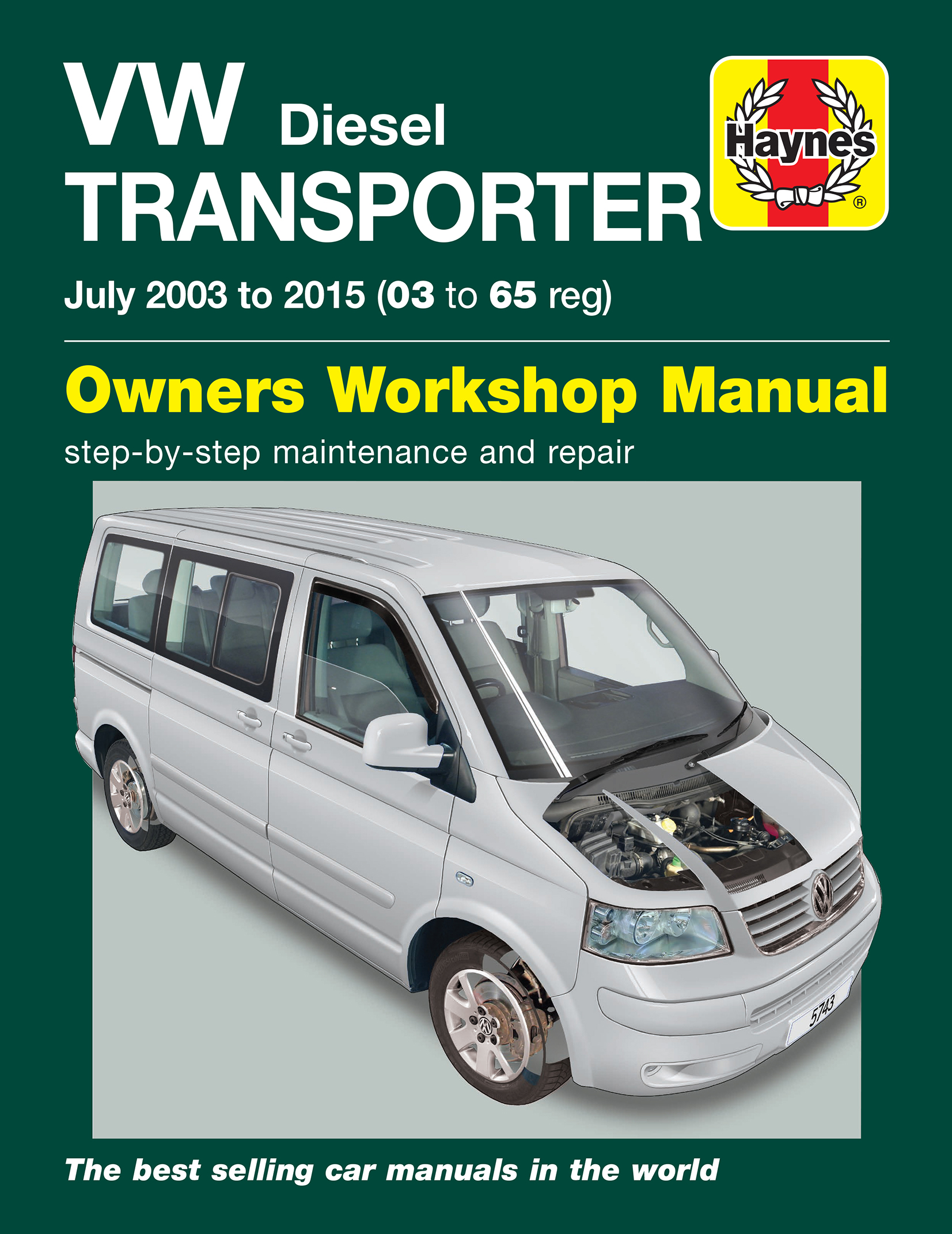 Enlarge VW T5 Transporter (July 03 - 15) Haynes Repair Manual