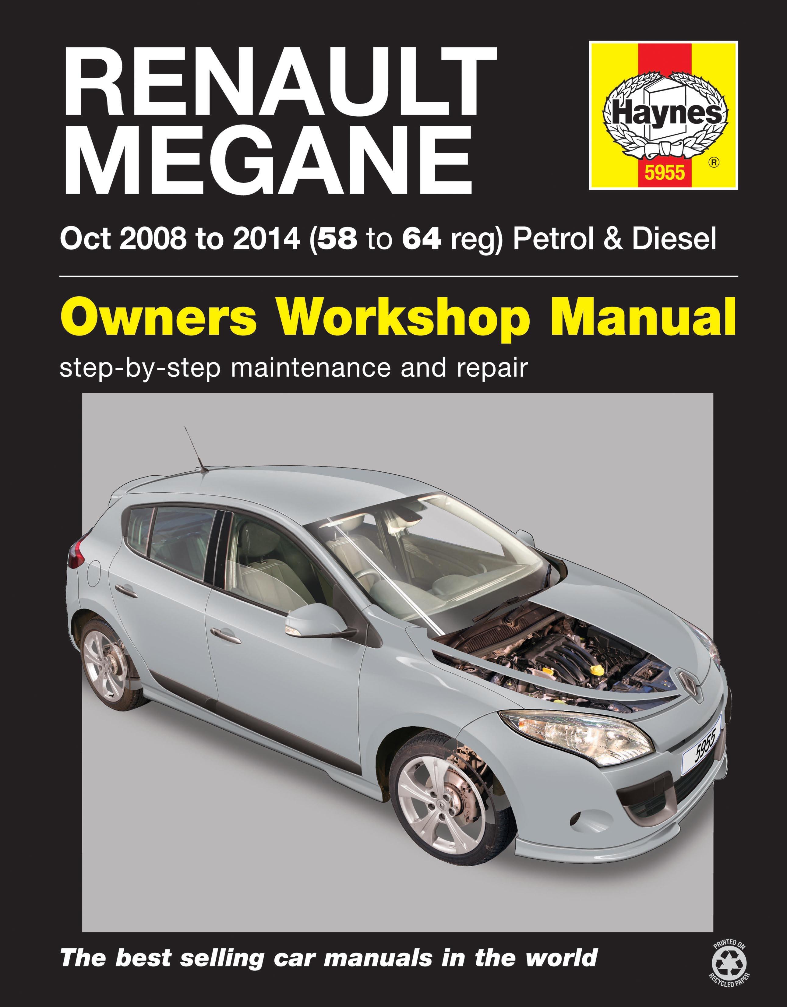 Renault Megane (08 - 14) Haynes Repair Manual | Haynes Publishing