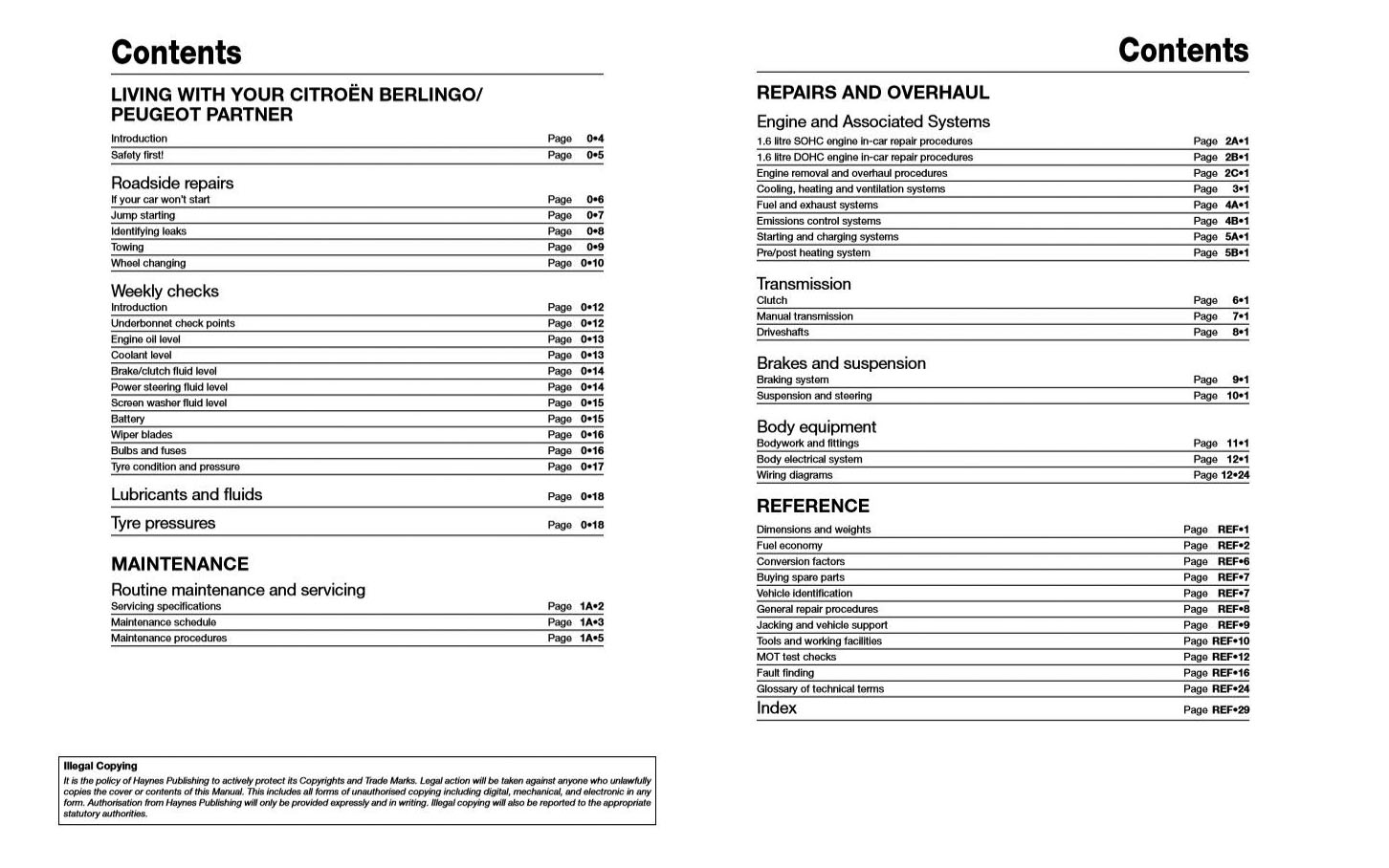 Peugeot Partner (2008 - 2016) Repair Manuals on