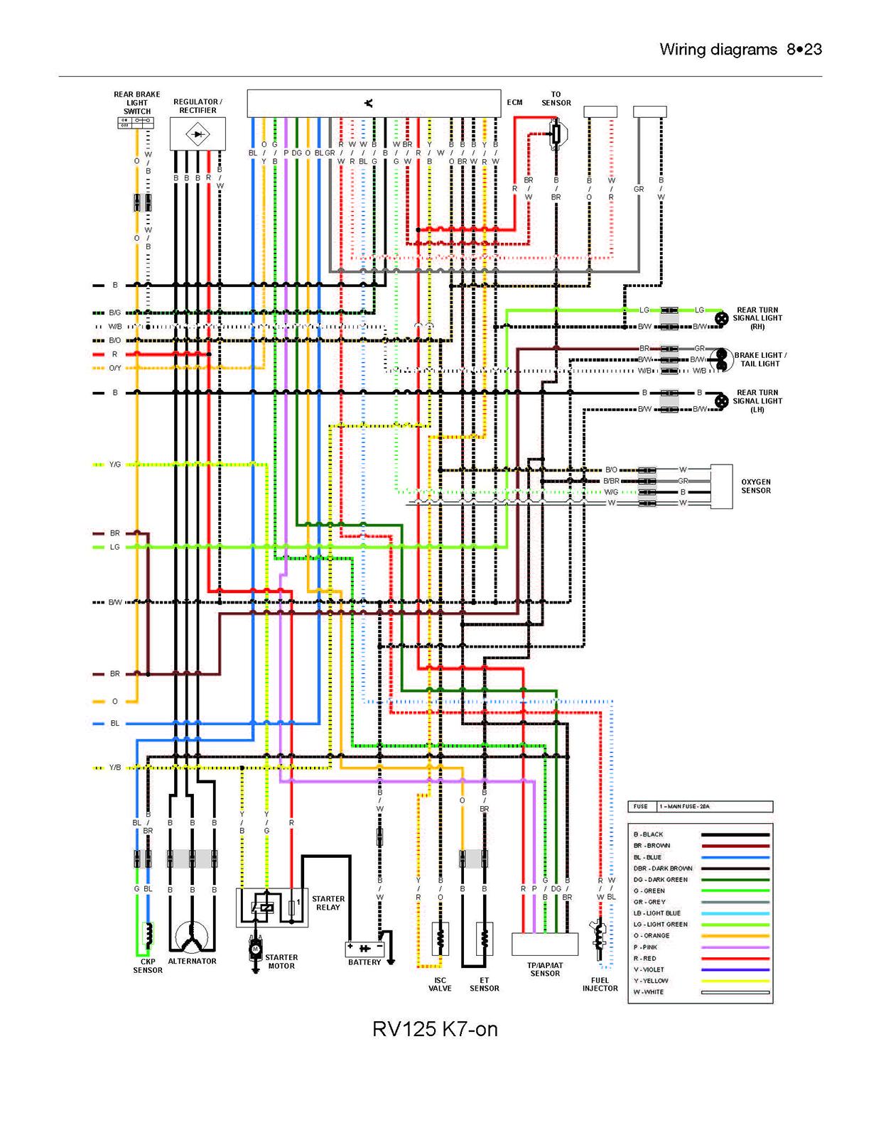 suzuki rv 125 wiring diagram suzuki rv125/200 vanvan (03 - 17) haynes repair manual ... #7