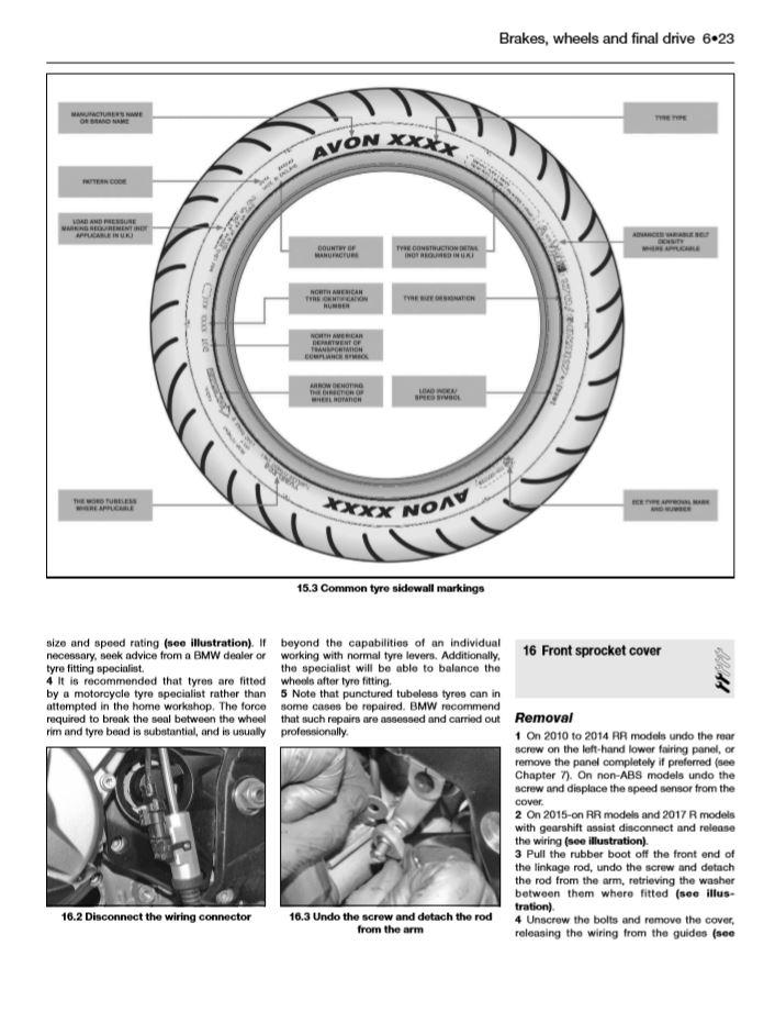 BMW S1000RR/R & XR (10 to 17) Haynes Repair Manual   Haynes Publishing