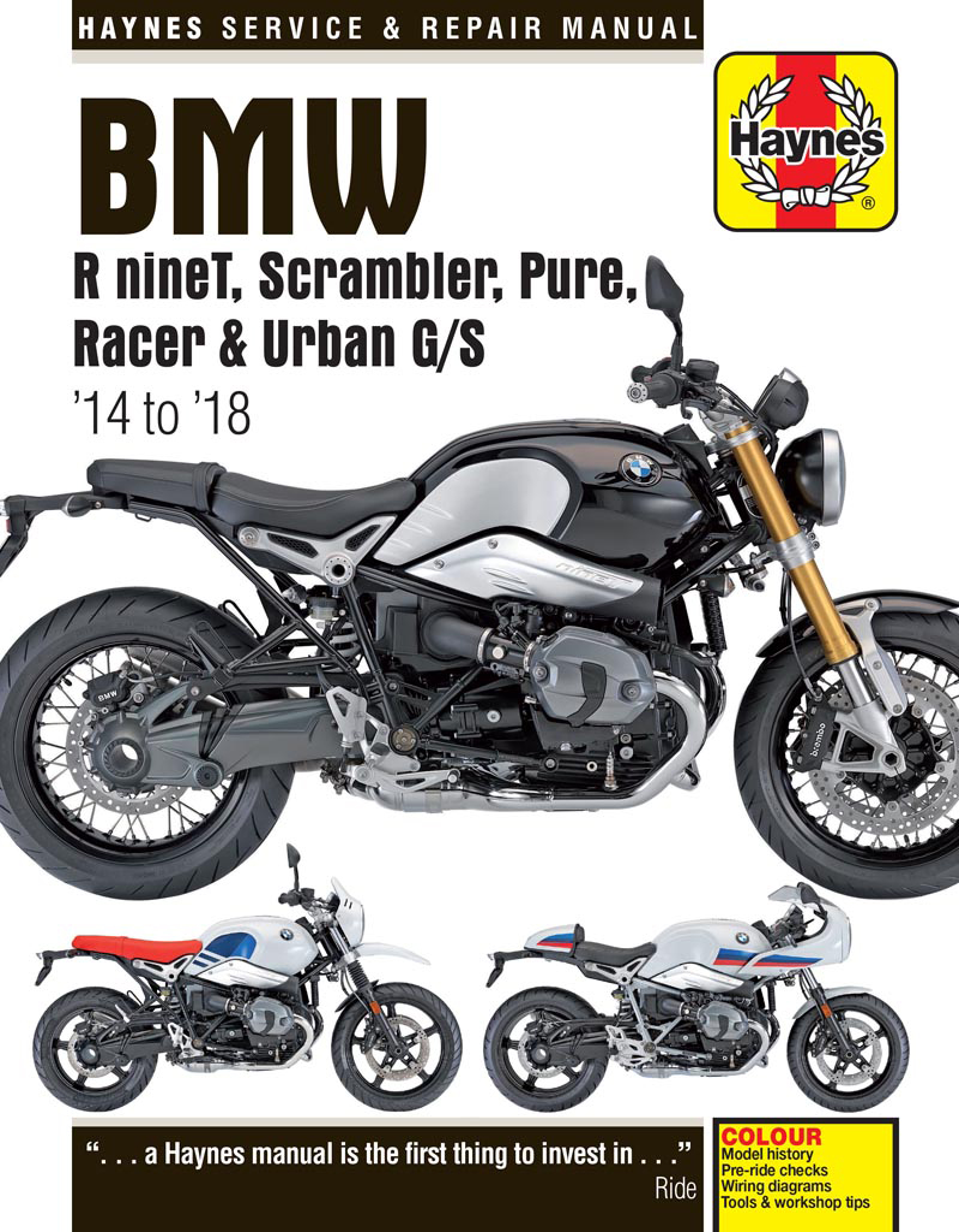 Bmw R Nine T Wiring Diagram Opinions About Custom Trailer Paris Ninet 14 18 Haynes Repair Manual Publishing Rh Com Cafe Racer