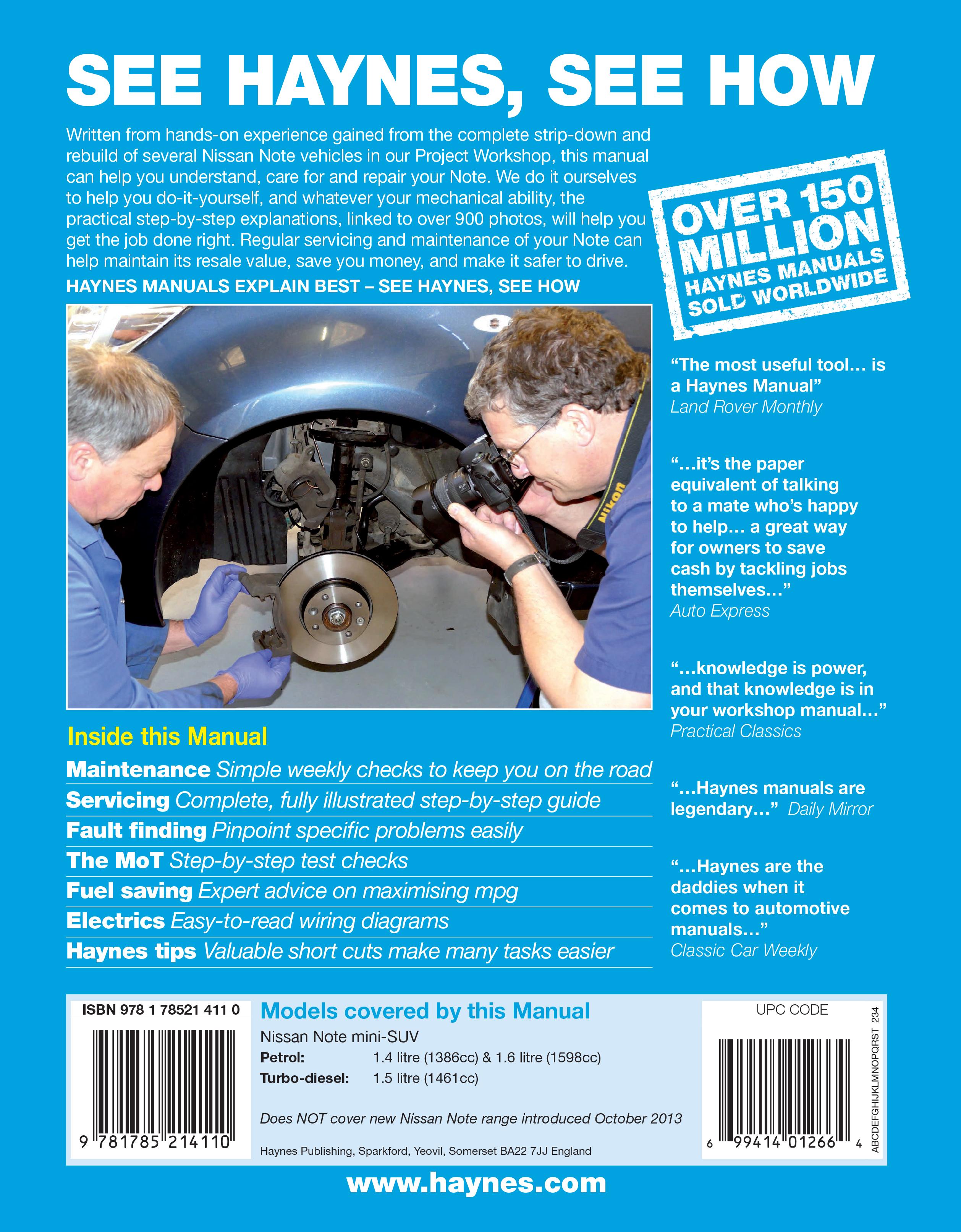 Nissan Note (2006 - 2013) Repair Manuals