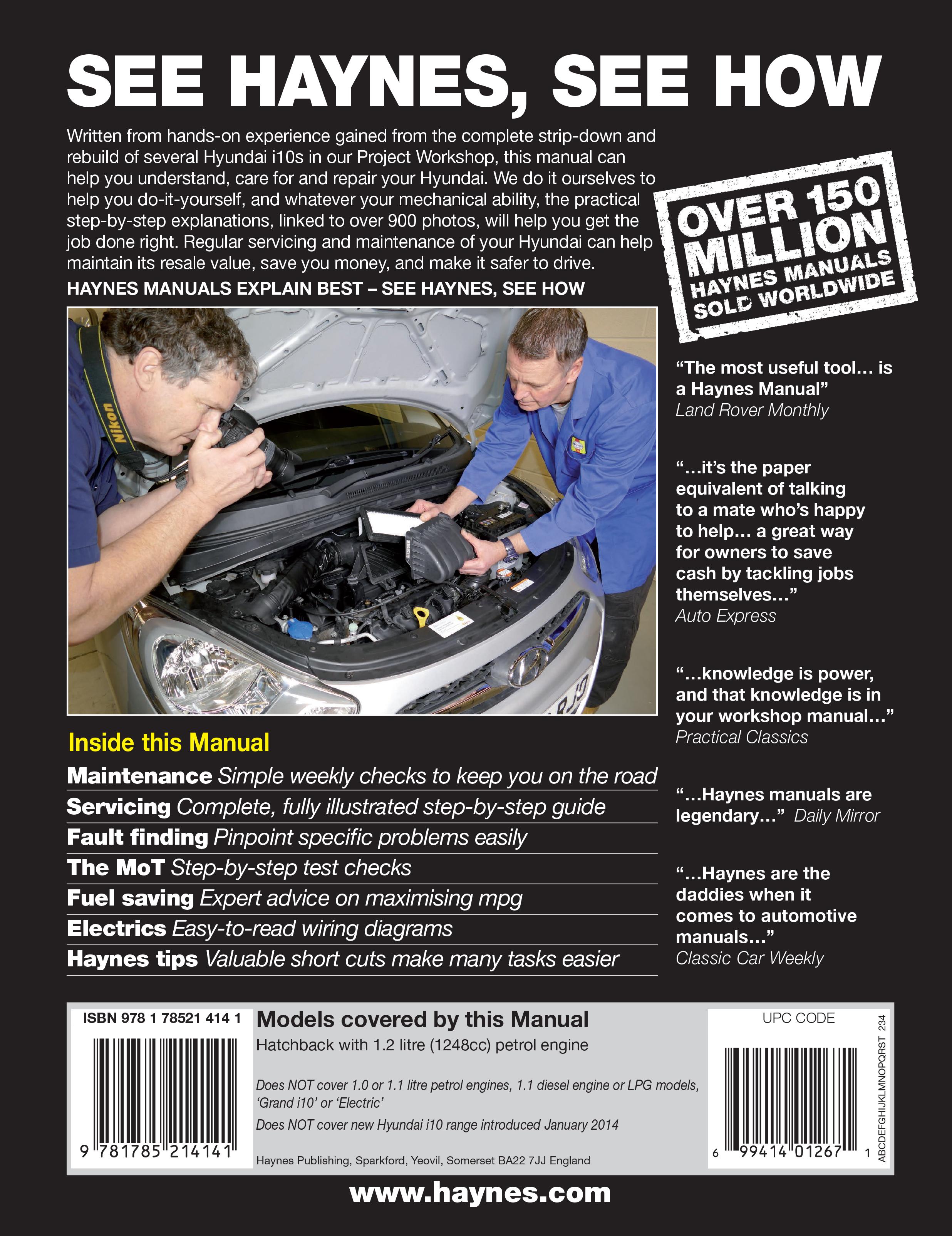 I10 Haynes Publishing Hyundai Engine Schematics Scroll Right