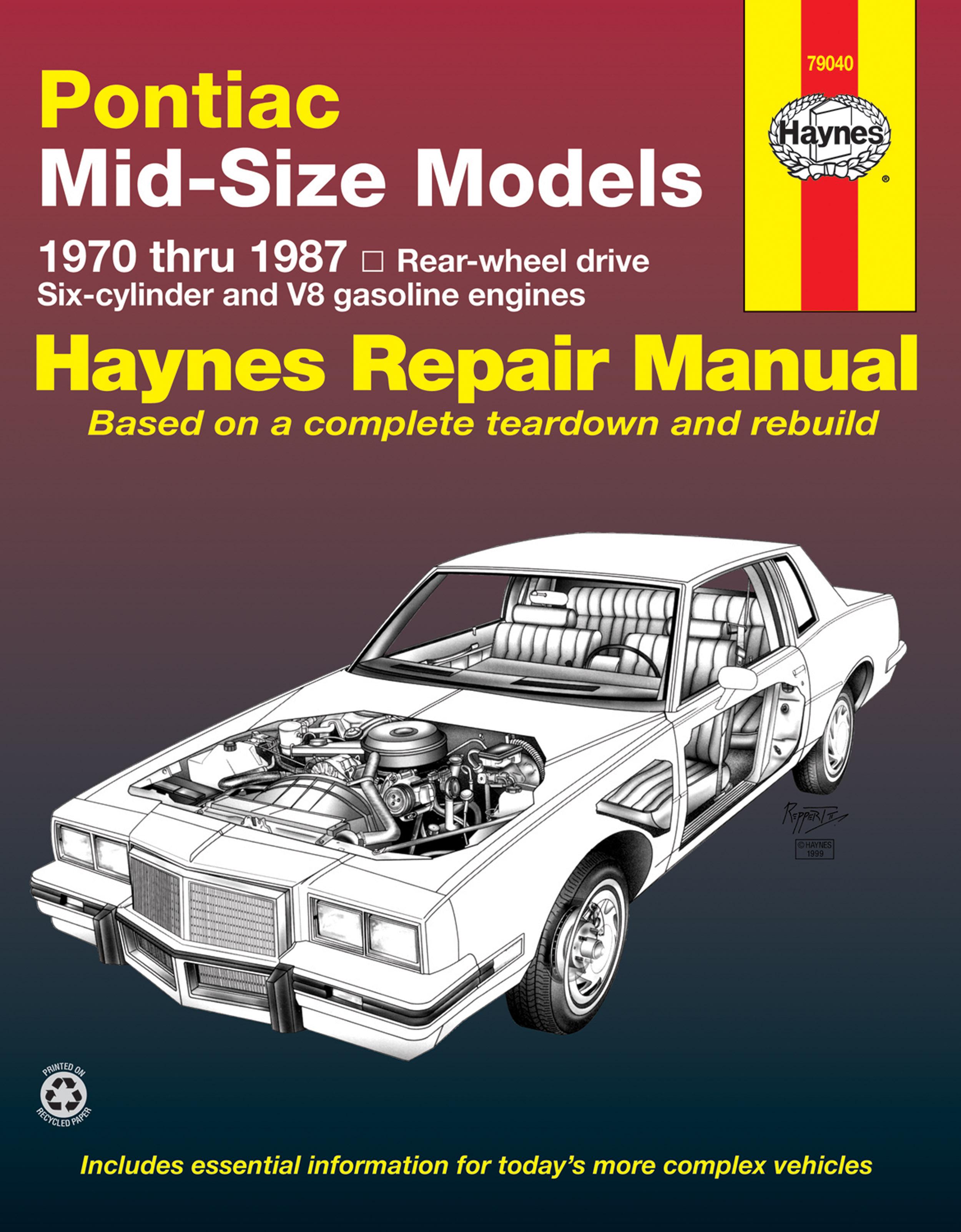 pontiac mid sized 70 87 covering bonneville 82 86 grand am 73 rh haynes com 1999 pontiac grand am manual 1999 Pontiac Grand AM