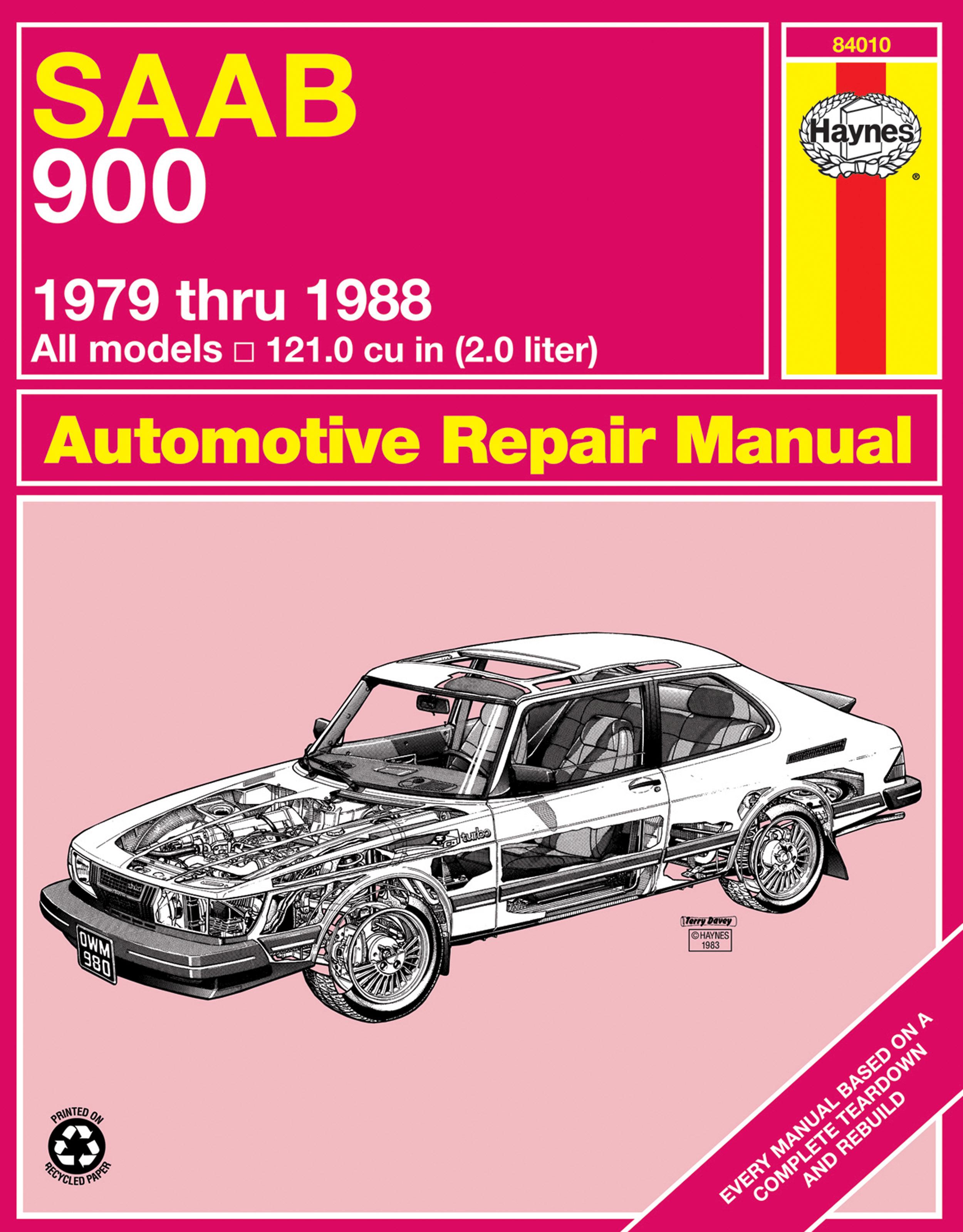 saab 900 sedan turbo 1979 1988 haynes repair manual usa rh haynes com Saab  99 Saab 900 Turbo