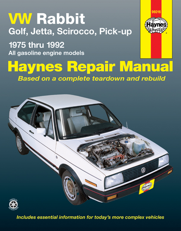 Volkswagen Cabriolet Gas (1985 - 1992) Repair Manuals
