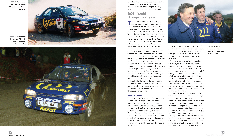 Subaru Impreza Group A Rally - Workshop Manual
