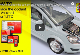 How to replace the coolant on a Vauxhall Zafira (2009-2014 petrol & diesel engines)
