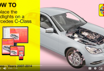 How to change the headlight on a Mercedes C Class (2007-2014)