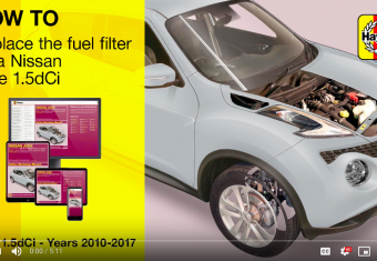 How to replace the fuel filter on a Nissan Juke - 2010 - 2017 models (petrol and diesel engines)