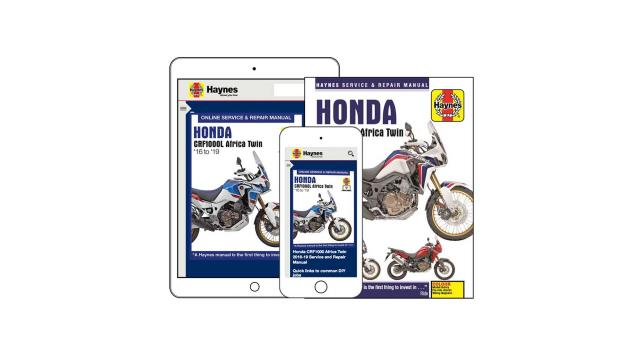 Haynes publishes new manual for Honda CRF1000L Africa Twin
