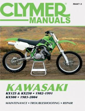Kawasaki KX125/250 (1982-1991) & KX500 (1983-2004) Motorcycle Service Repair Manual