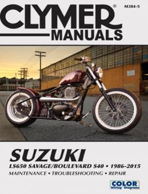 Suzuki LS650 Savage Boulevard S40 Motorcycle (1986-2015) Clymer Repair Manual